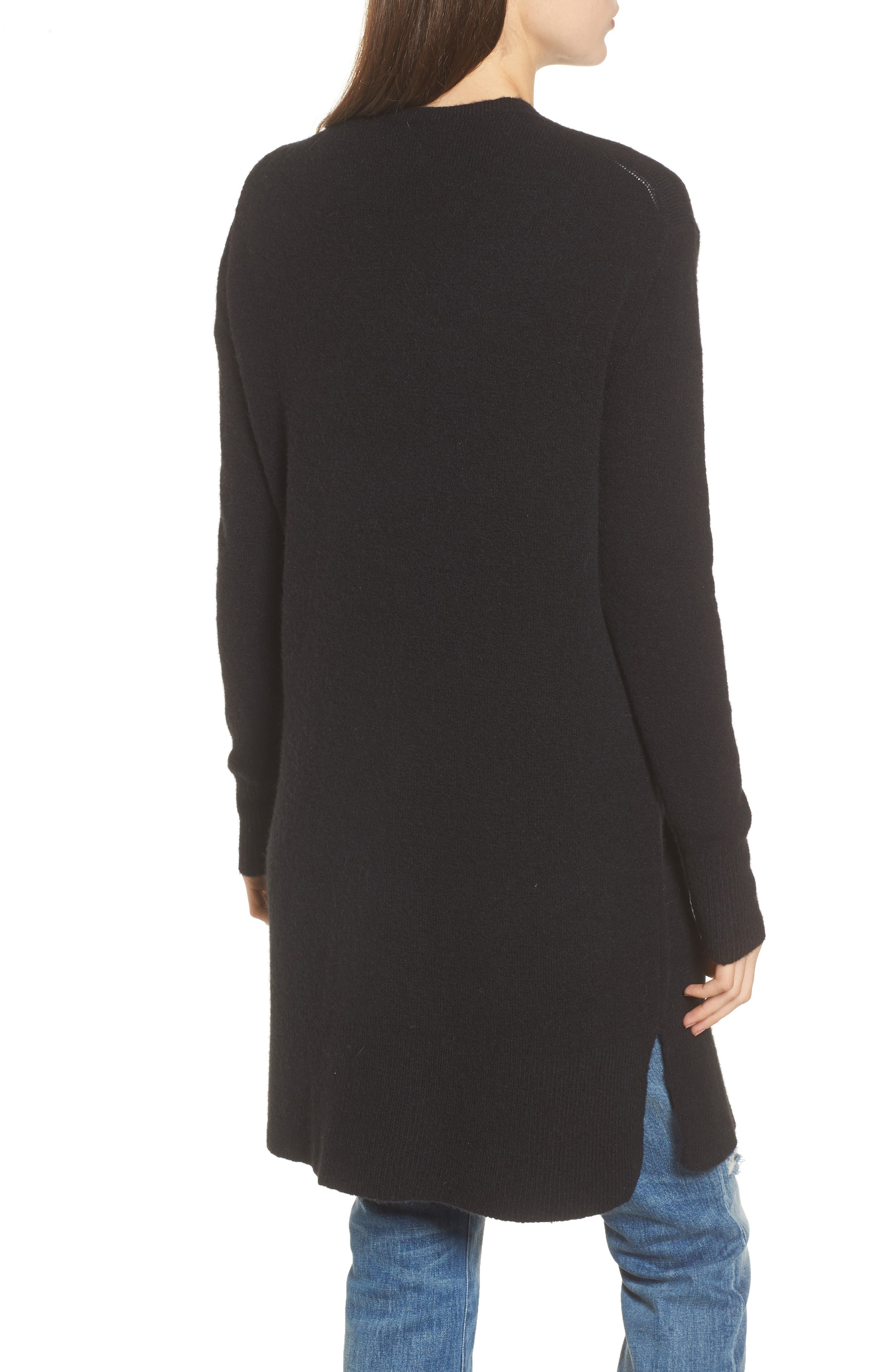 MADEWELL, Kent Cardigan Sweater, Alternate thumbnail 2, color, TRUE BLACK