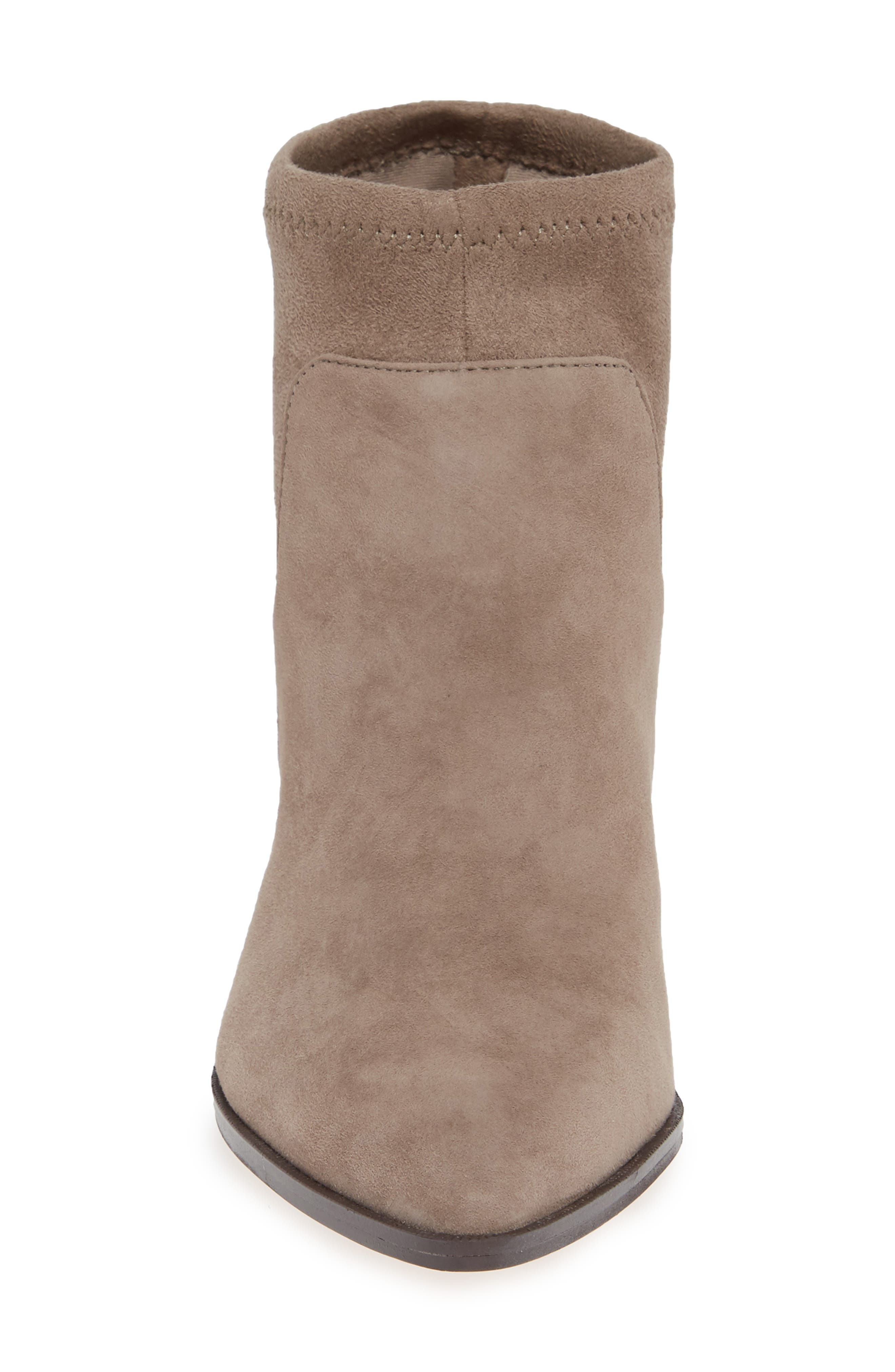 SOLE SOCIETY, Dawnina Bootie, Alternate thumbnail 4, color, PORCINI SUEDE