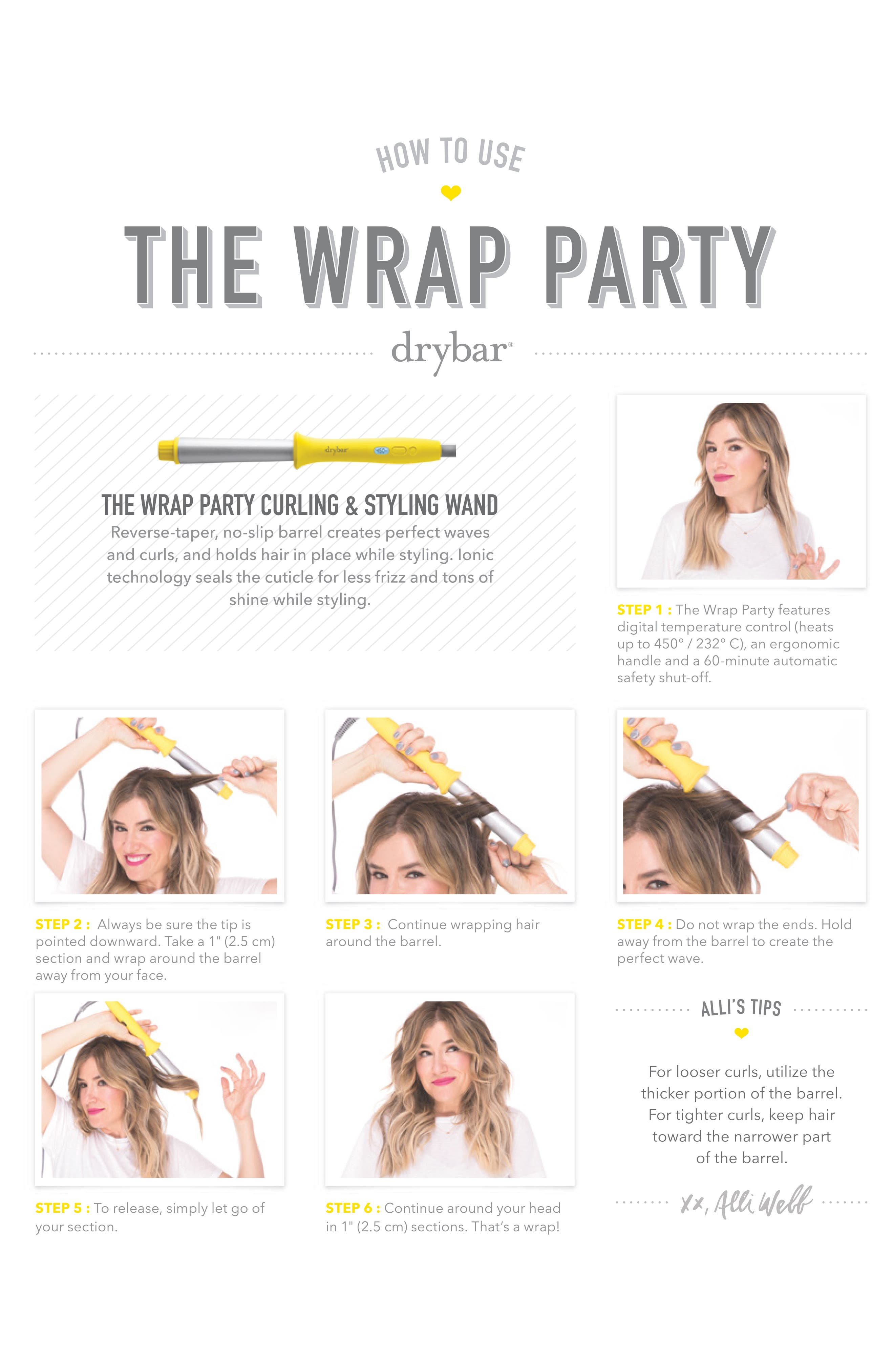 DRYBAR, The Wrap Party Curling & Styling Wand, Alternate thumbnail 2, color, NO COLOR