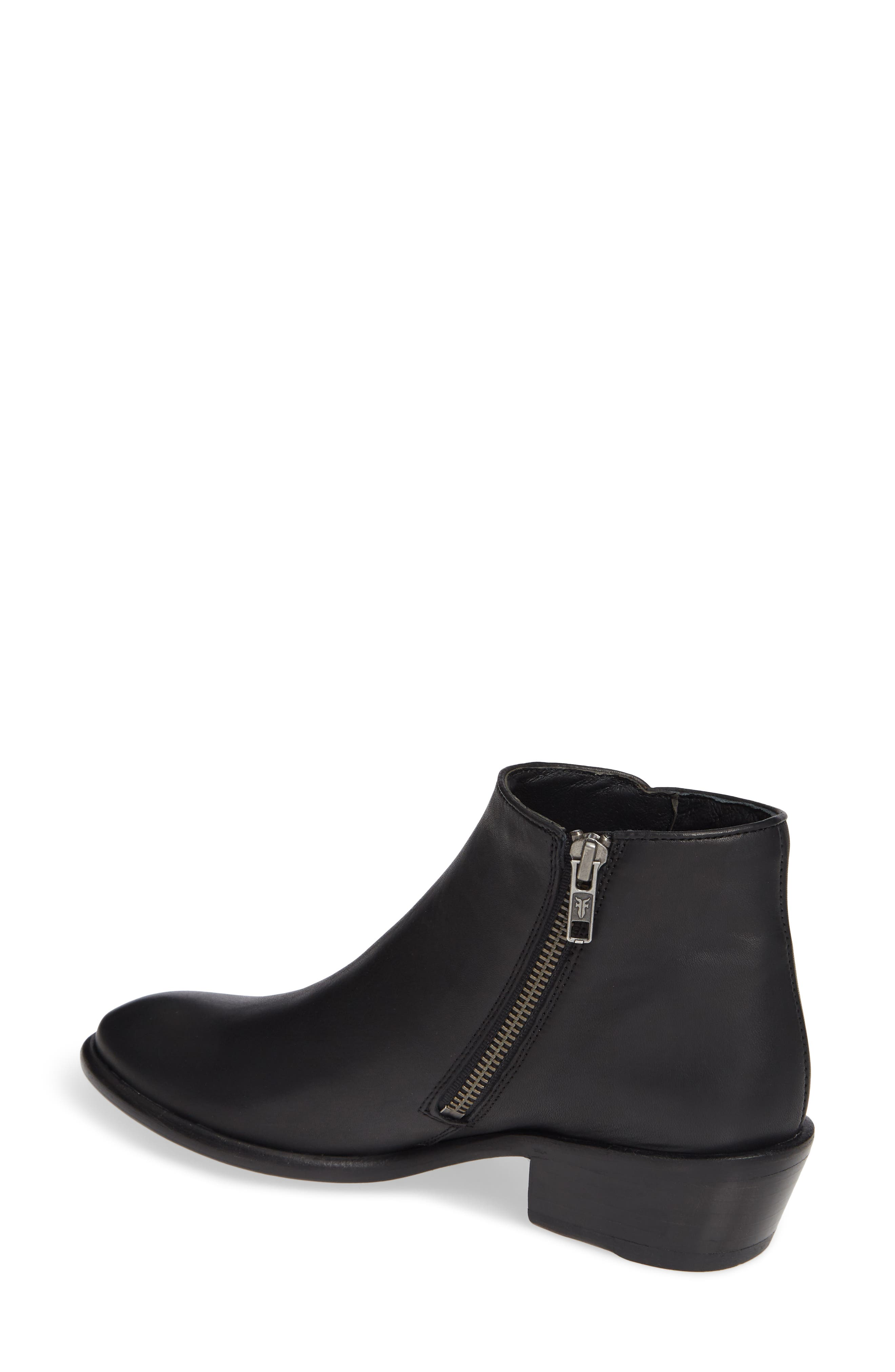 FRYE, Carson Piping Bootie, Alternate thumbnail 2, color, BLACK
