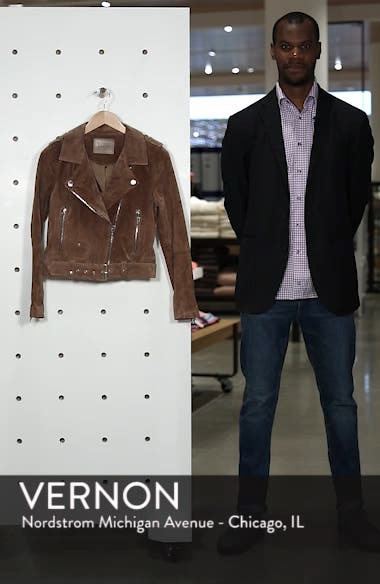 Morning Suede Moto Jacket, sales video thumbnail
