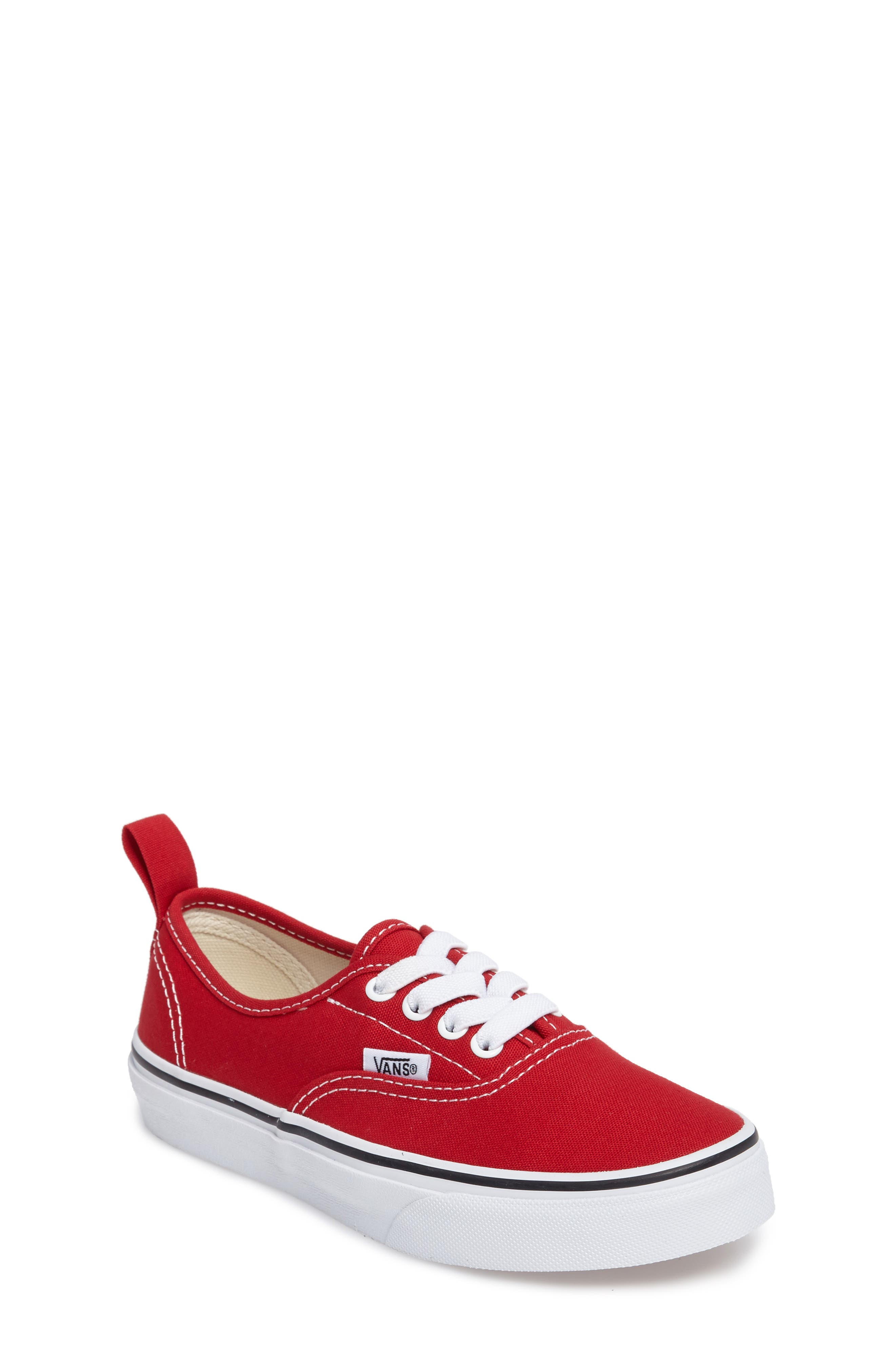 VANS, Authentic Sneaker, Main thumbnail 1, color, RACING RED/ TRUE WHITE