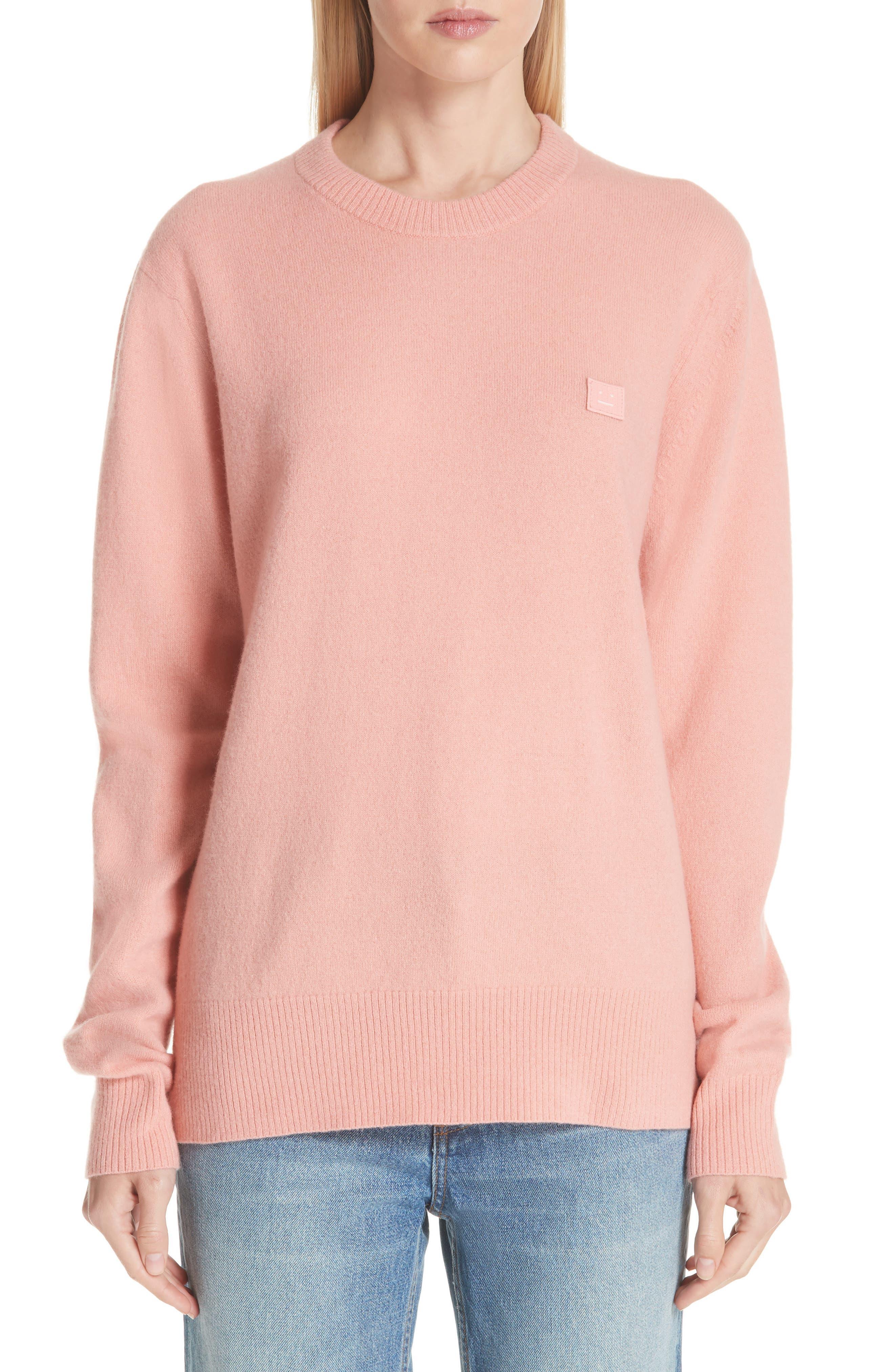 Acne Studios Nalon Wool Sweater, Pink
