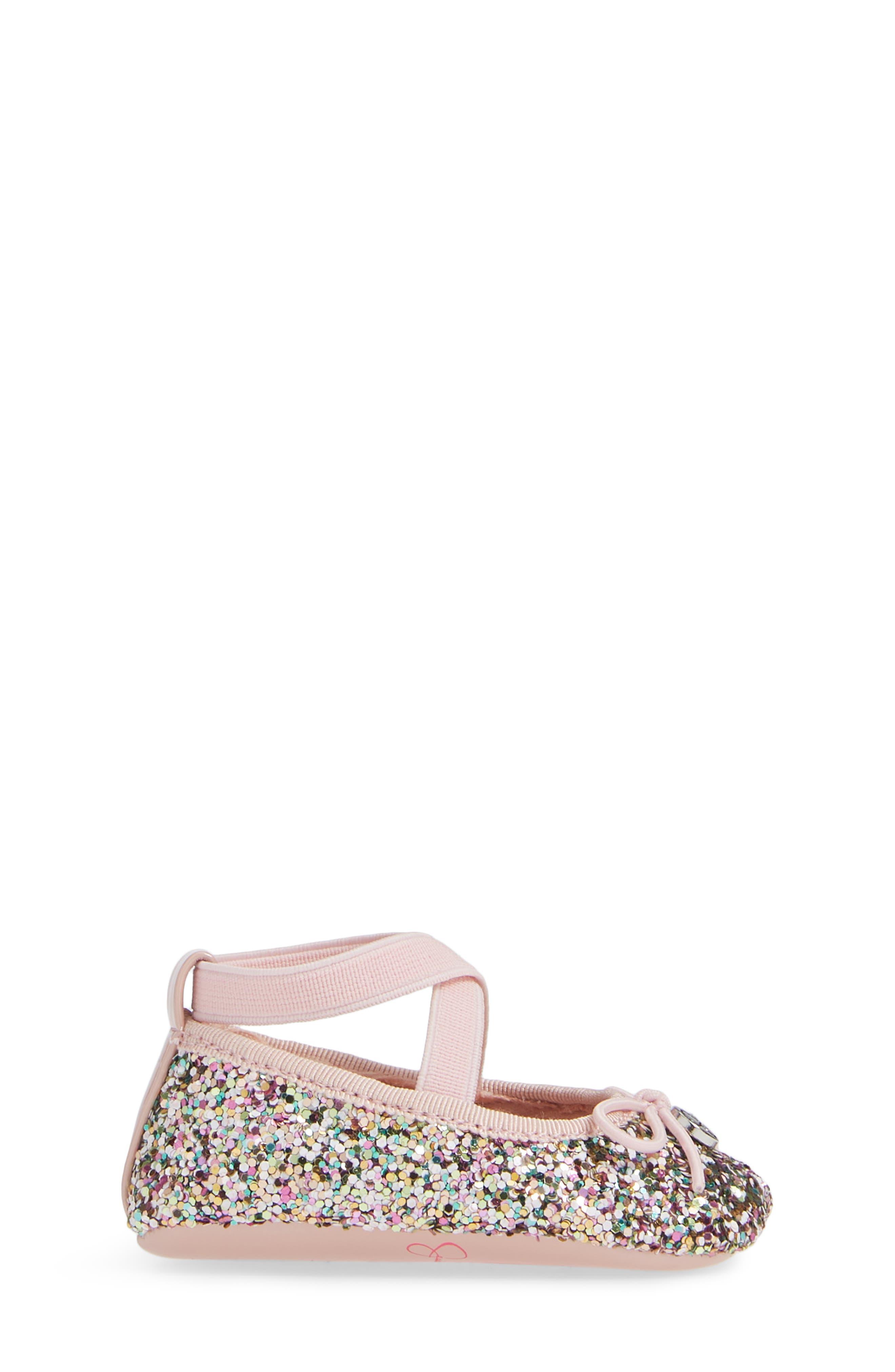 JESSICA SIMPSON, Glitter Mary Jane Crib Shoe, Alternate thumbnail 3, color, 650