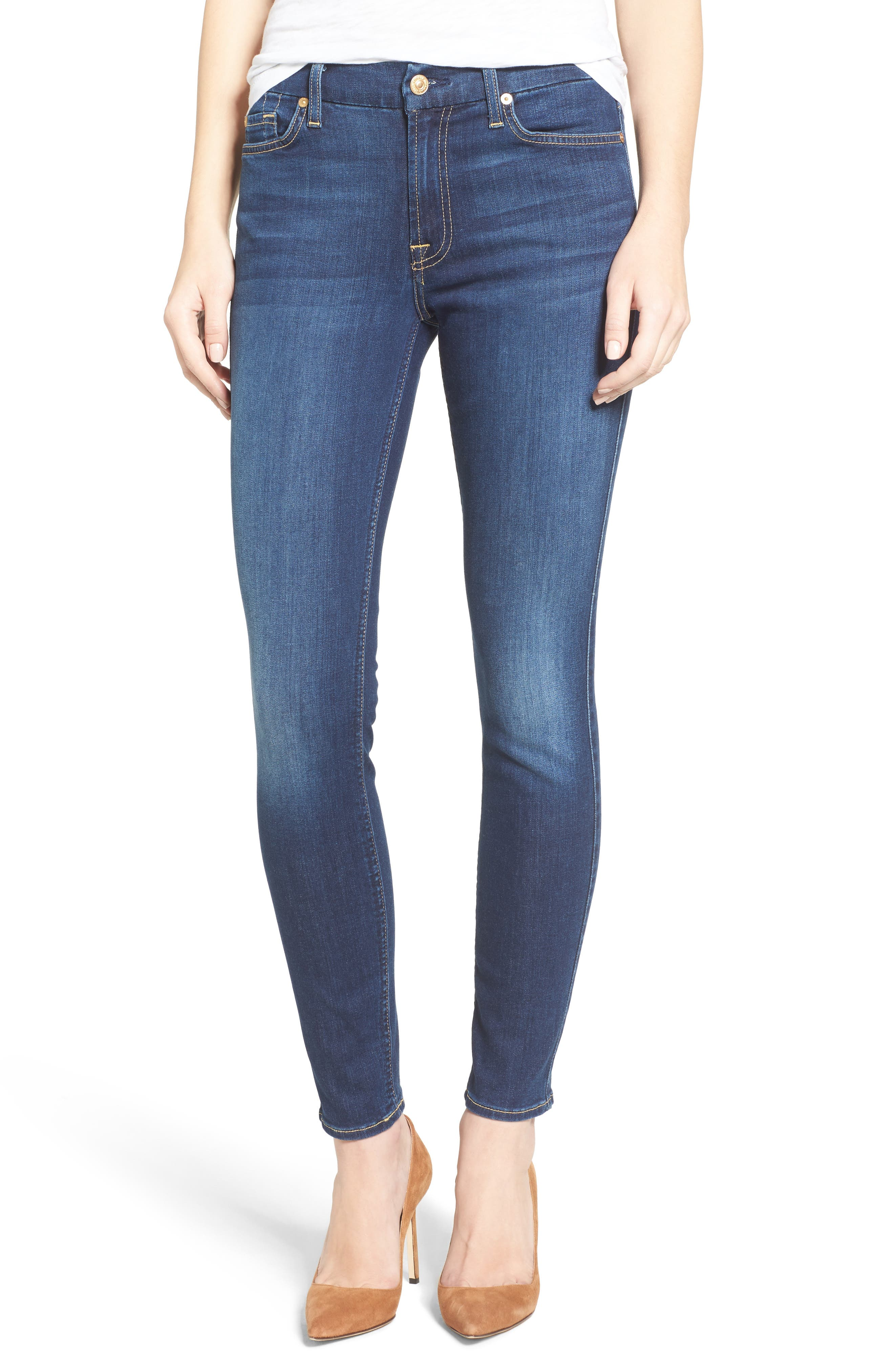 7 FOR ALL MANKIND<SUP>®</SUP>, b(air) Ankle Skinny Jeans, Main thumbnail 1, color, 400