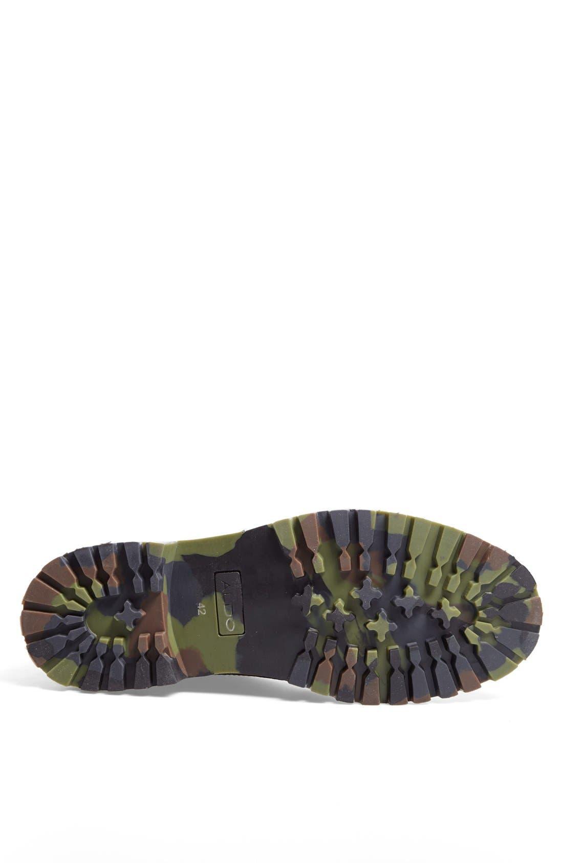 ALDO, 'Cetuur' Plain Toe Boot, Alternate thumbnail 4, color, 002