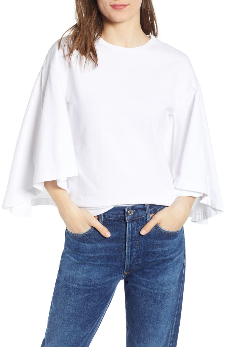 Citizens Of Humanity Tops Flutter Batwing Sleeve Cotton Top