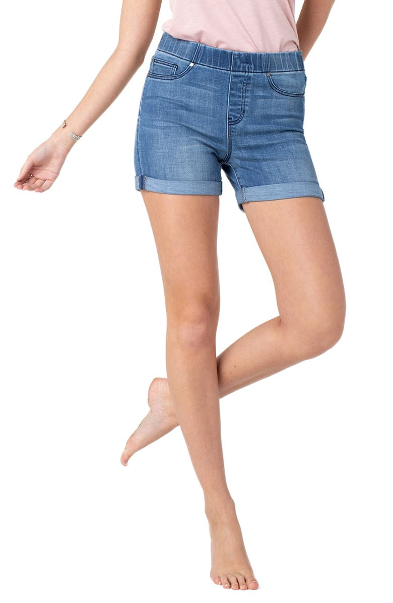 Liverpool Shorts CHLOE PULL-ON DENIM SHORTS