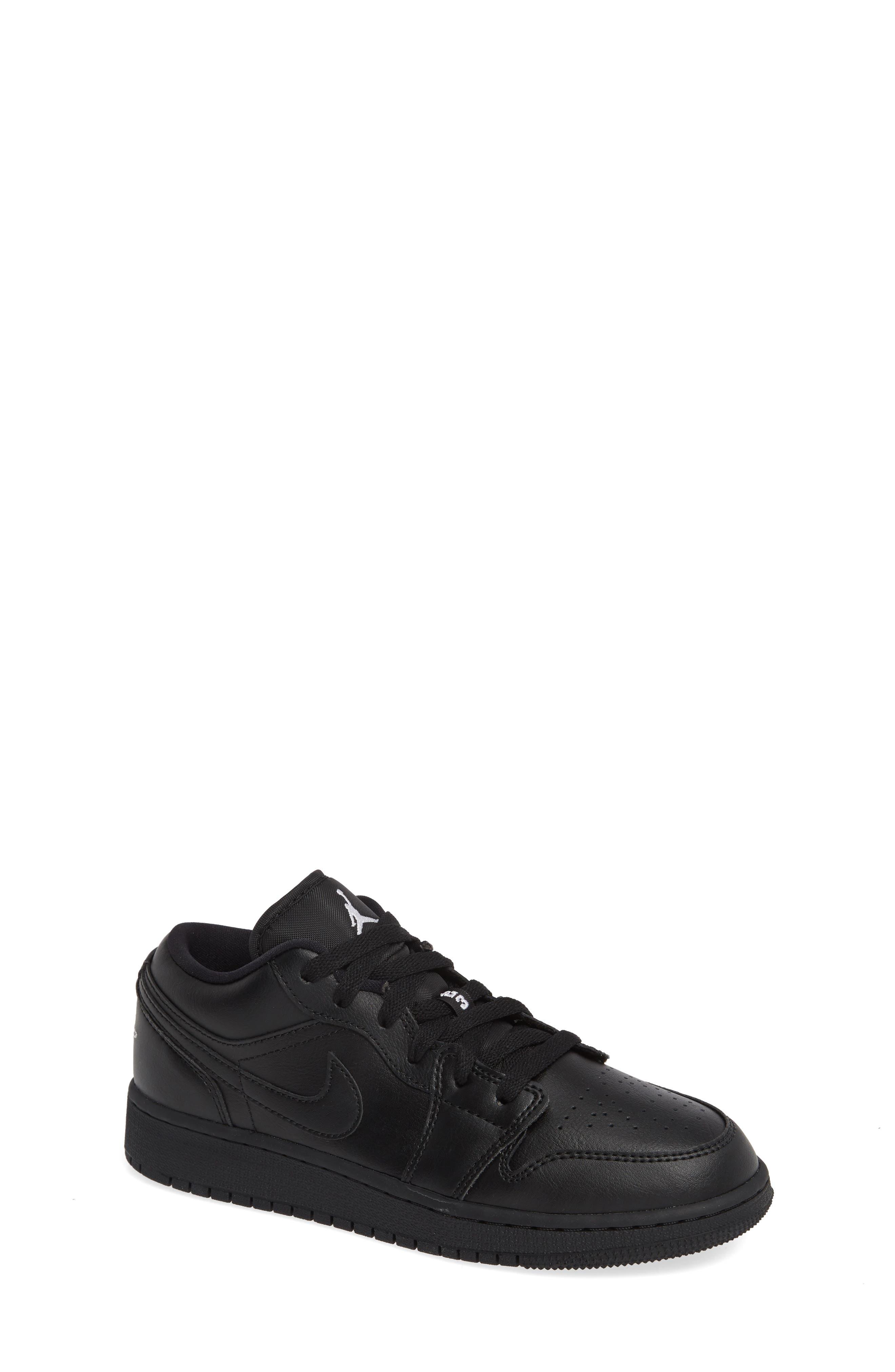 JORDAN Nike 'Air Jordan 1 Low' Sneaker, Main, color, BLACK/ WHITE/ BLACK