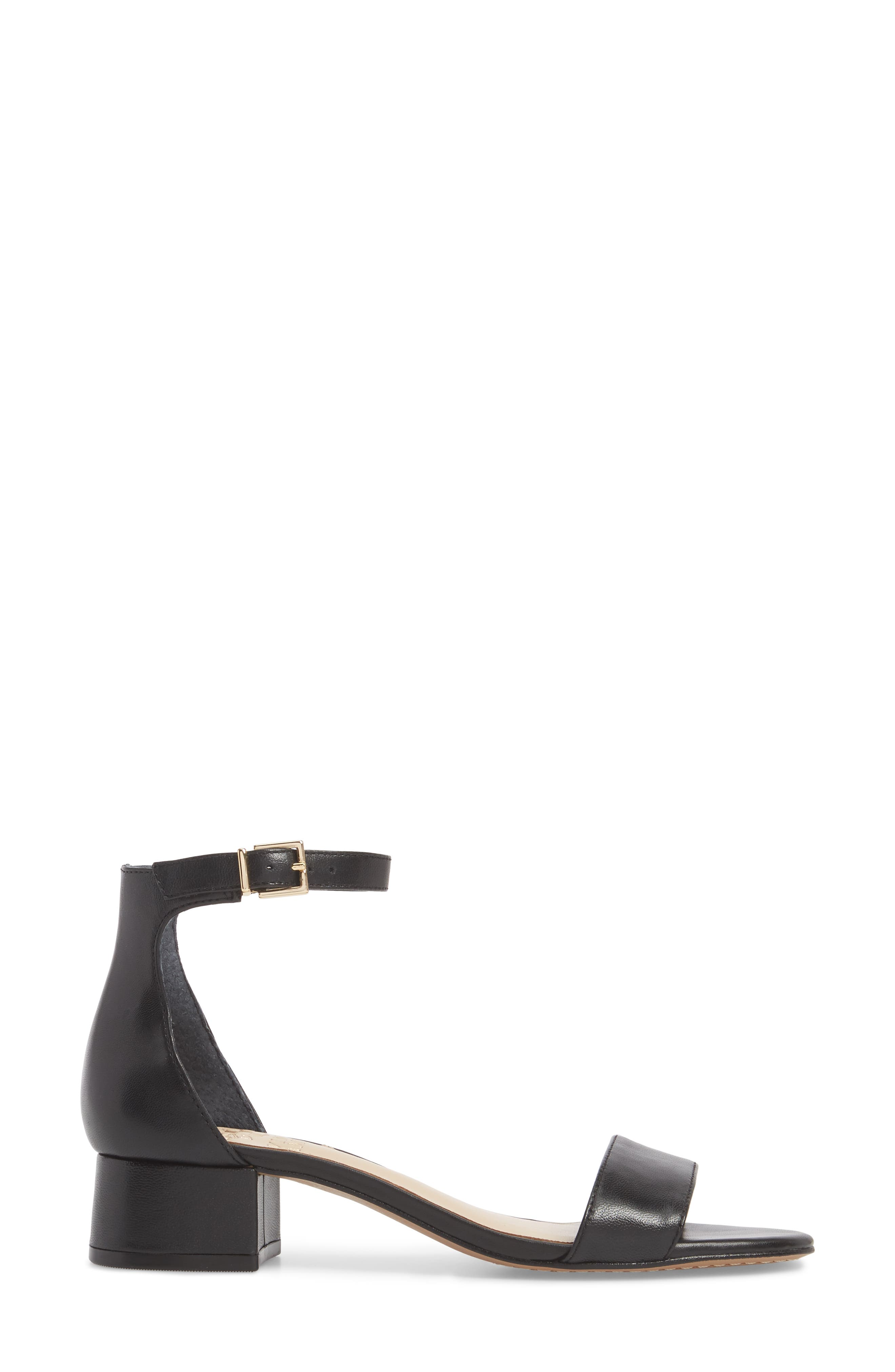 VINCE CAMUTO, Sasseta Sandal, Alternate thumbnail 3, color, BLACK LEATHER