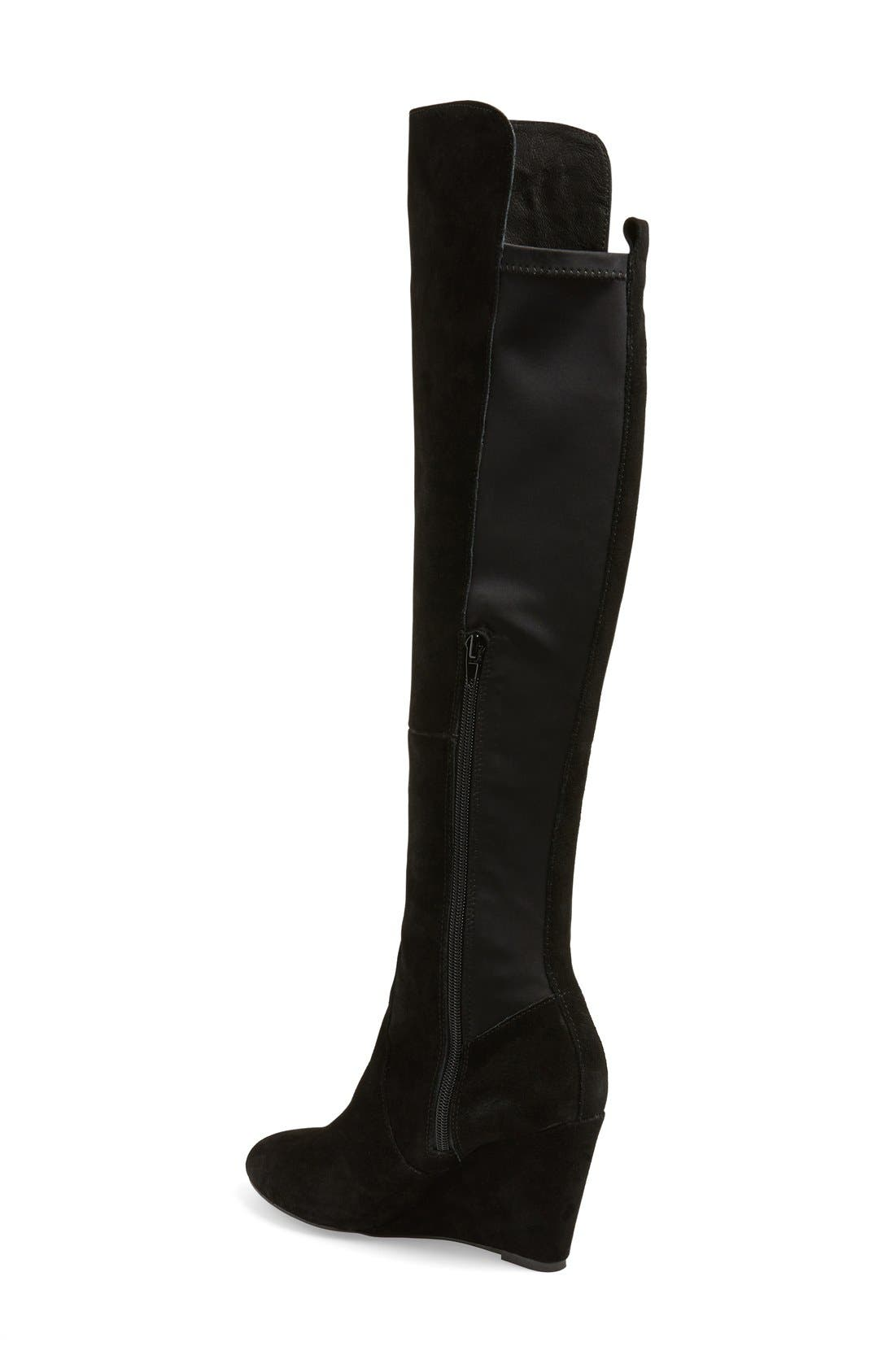 CHARLES BY CHARLES DAVID, 'Edie' Over the Knee Boot, Alternate thumbnail 2, color, 002