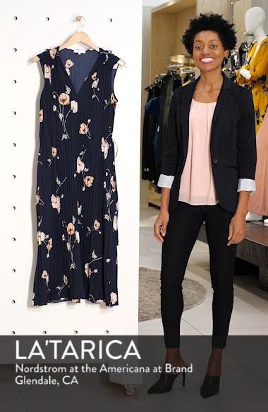 Tossed Poppy Pleated Midi Dress, sales video thumbnail