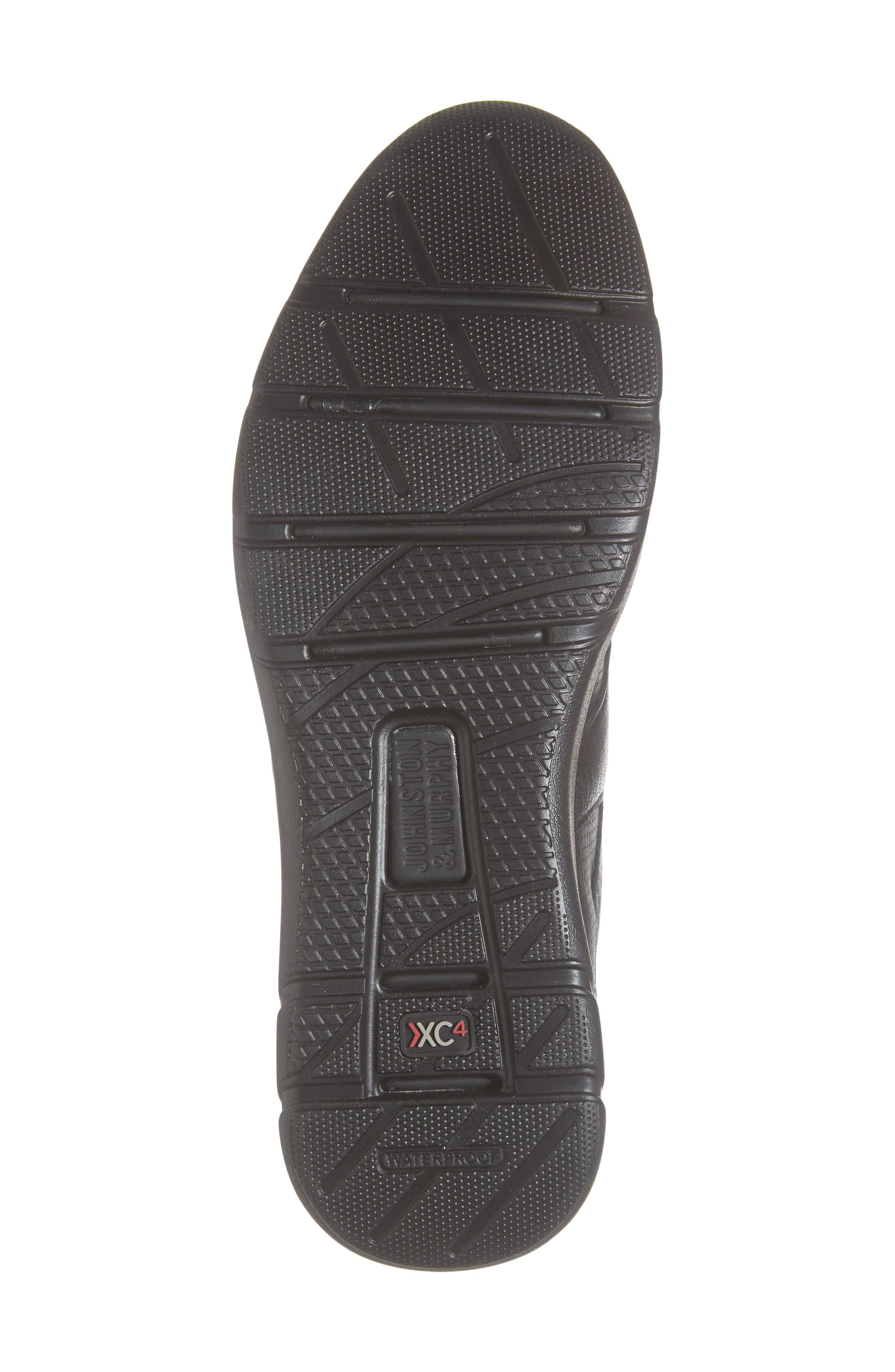 JOHNSTON & MURPHY, Prentiss Waterproof Sneaker, Alternate thumbnail 6, color, BLACK LEATHER
