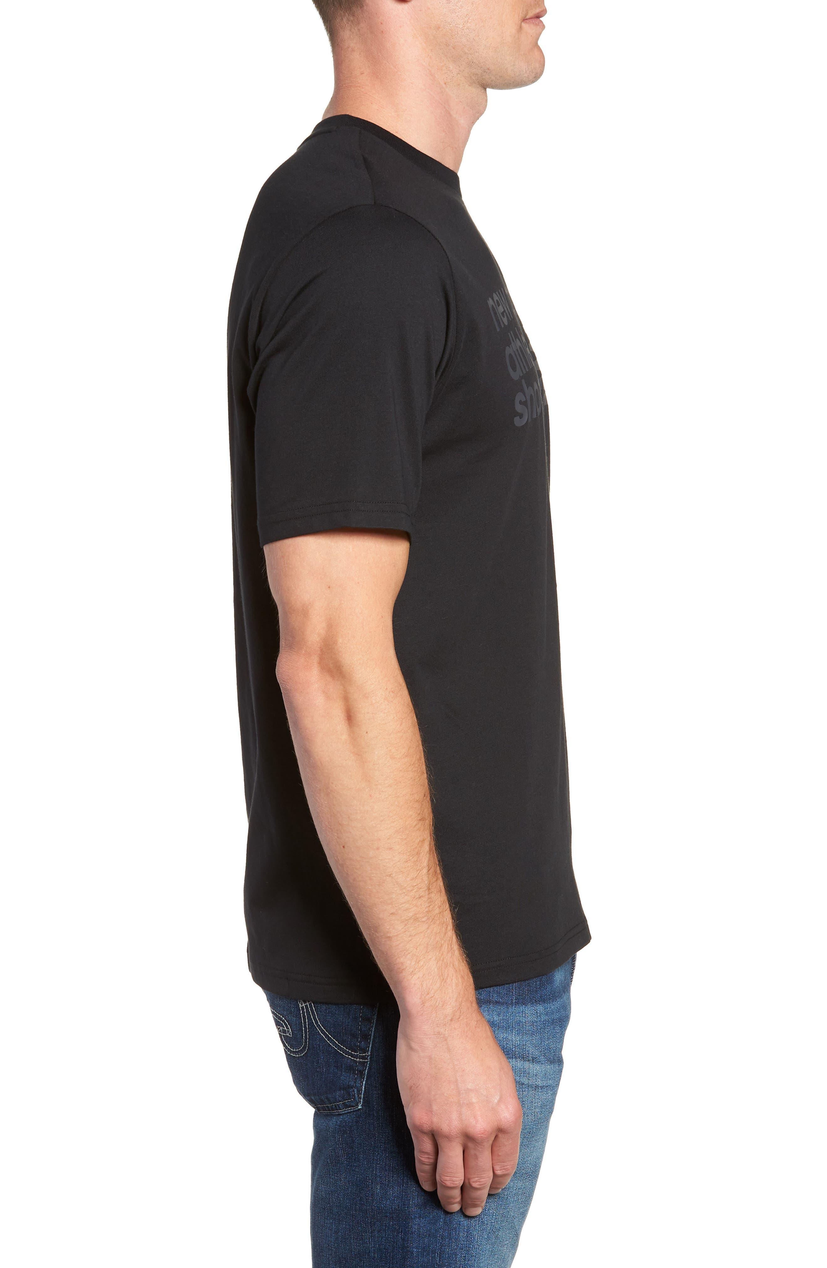 NEW BALANCE, NB Shoe Box Graphic T-Shirt, Alternate thumbnail 3, color, BLACK