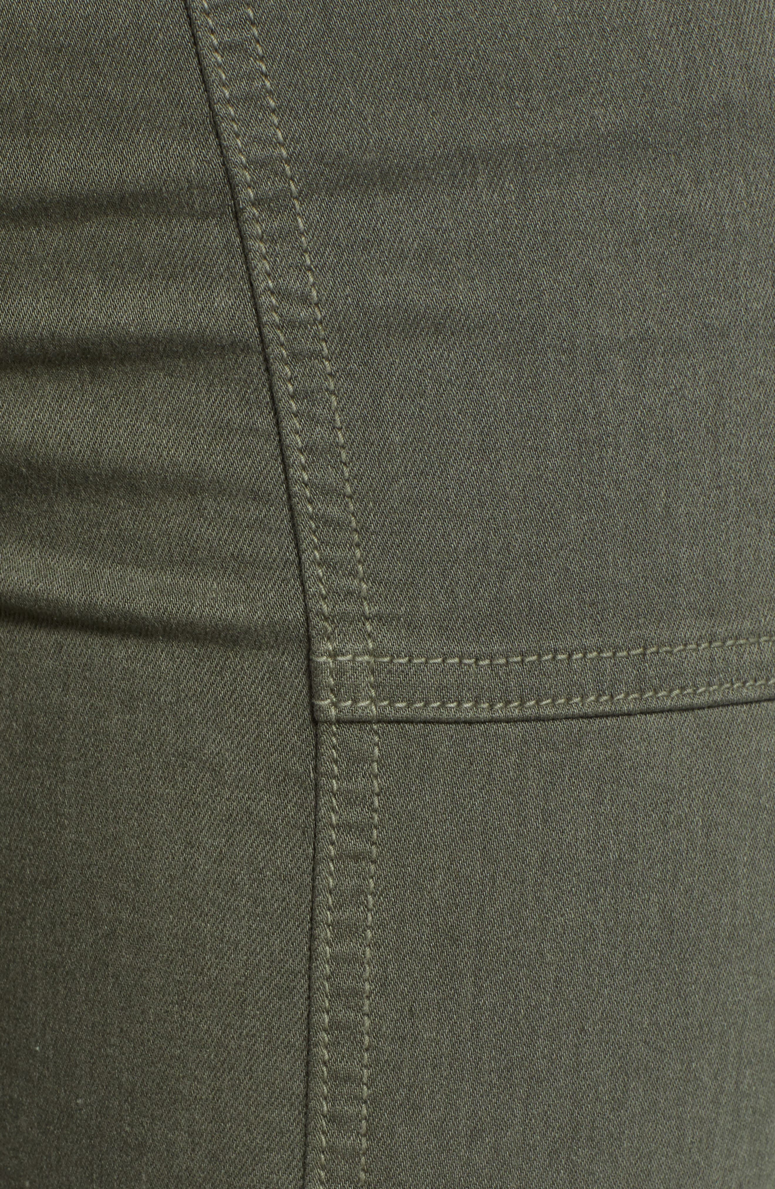 7 FOR ALL MANKIND<SUP>®</SUP>, Roxanne Paneled Ankle Slim Jeans, Alternate thumbnail 6, color, 301