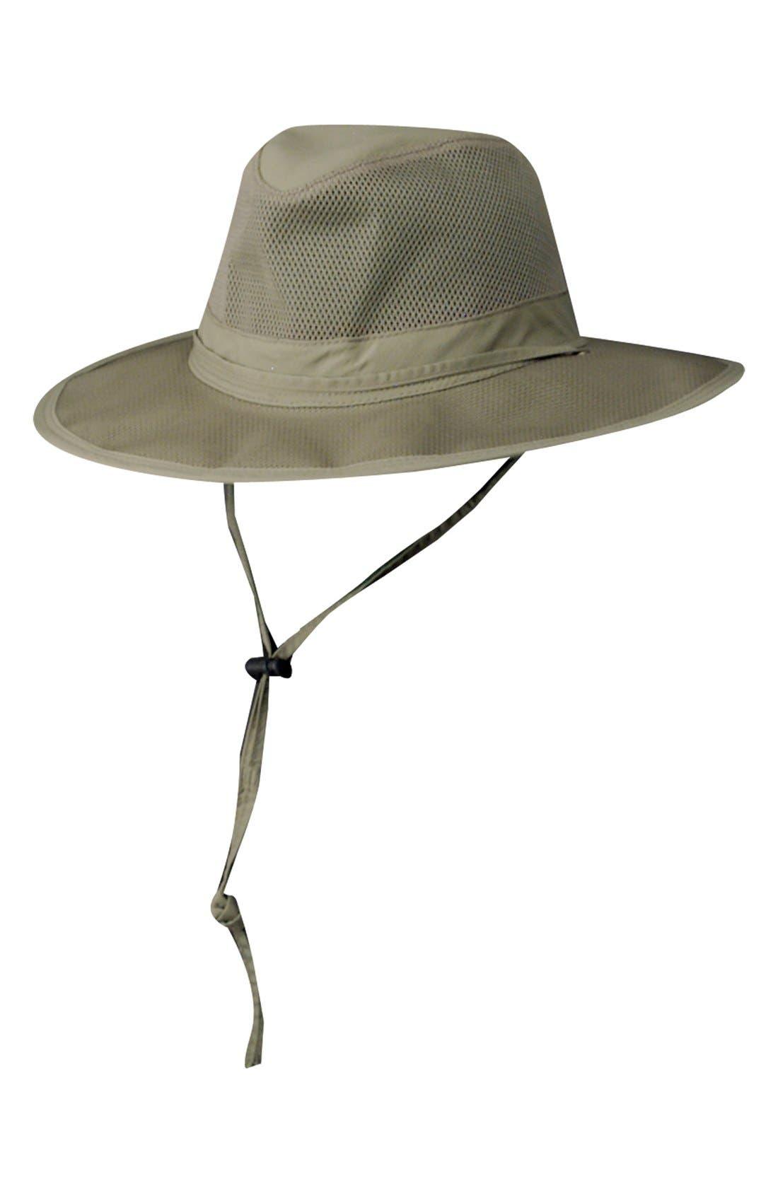 SCALA, Mesh Safari Hat, Main thumbnail 1, color, FOSSIL