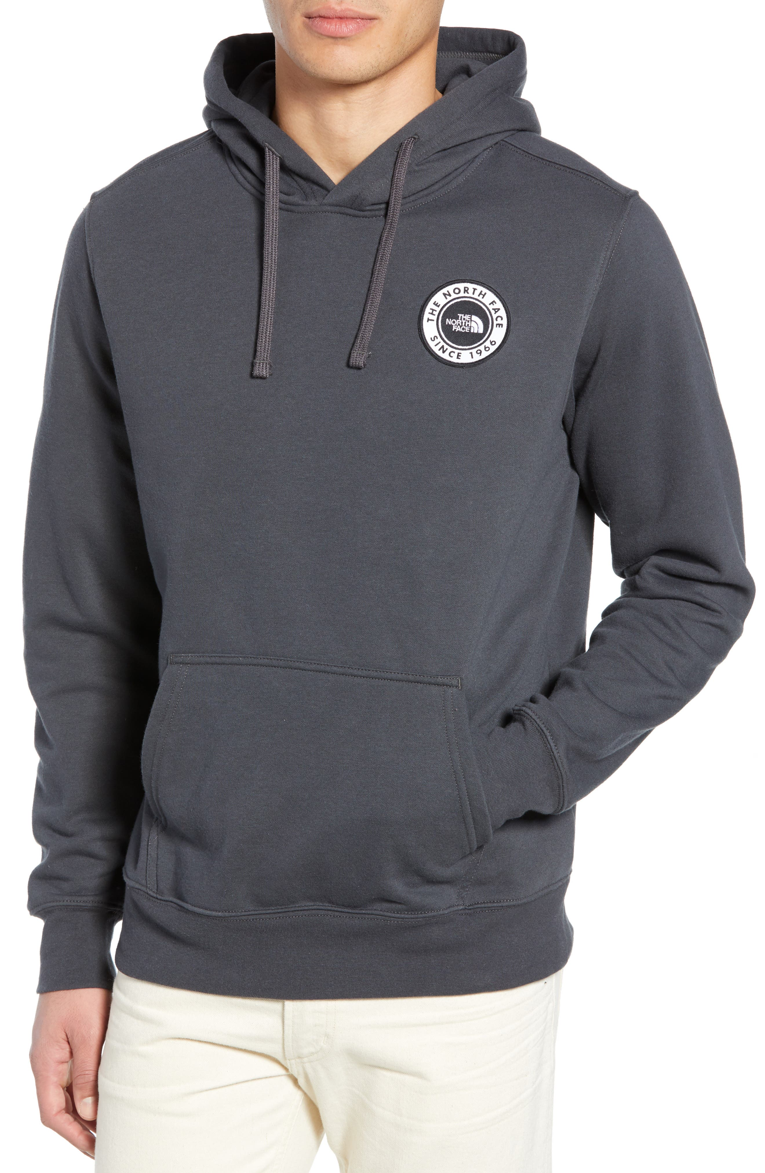 THE NORTH FACE, Bottle Source Pullover Hoodie, Main thumbnail 1, color, ASPHALT GREY