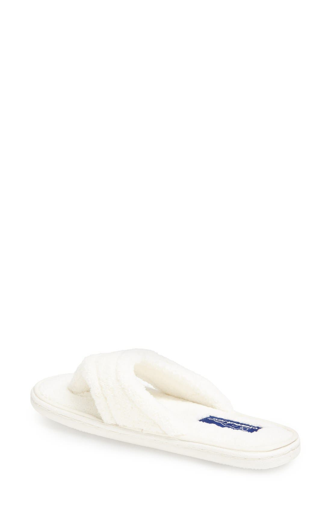 TEMPUR-PEDIC<SUP>®</SUP>, 'Airsock' Thong Slipper, Alternate thumbnail 2, color, CREAM