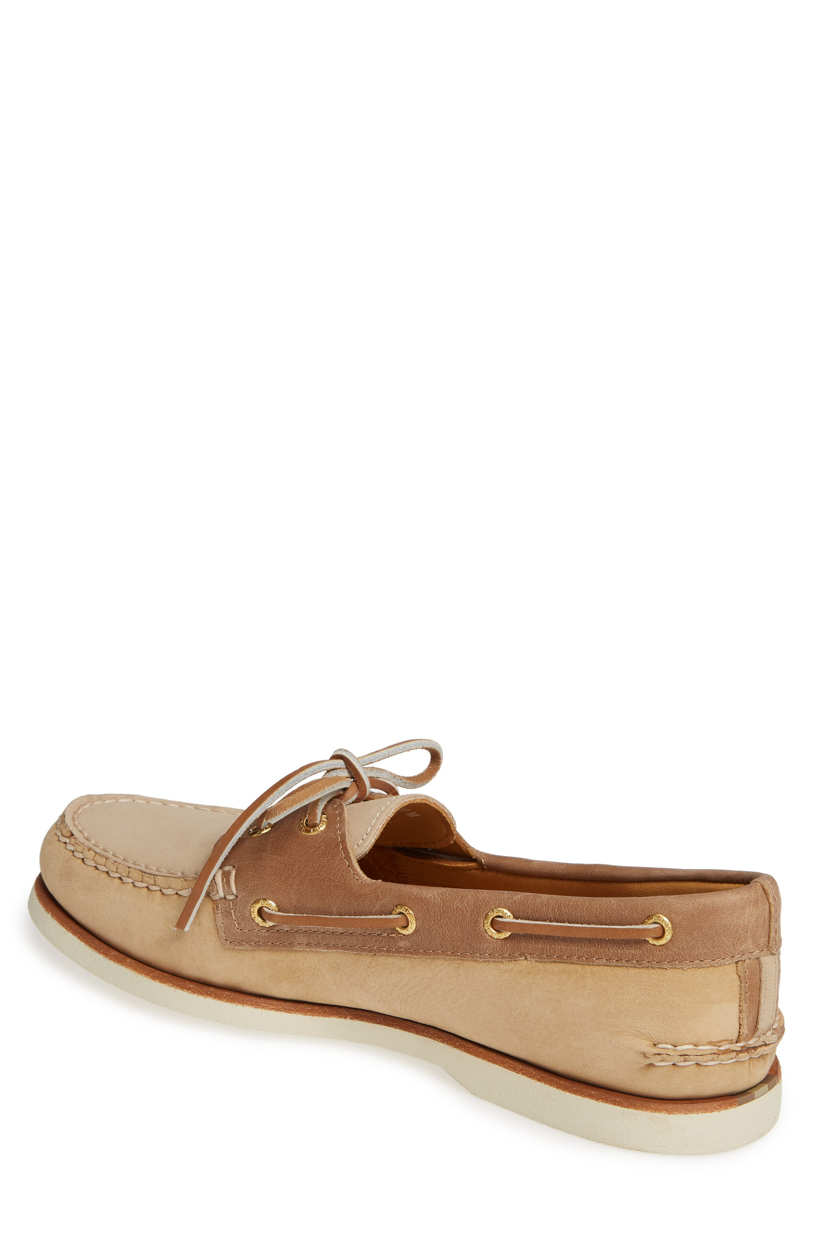 SPERRY, Gold Cup Authentic Original Boat Shoe, Alternate thumbnail 2, color, TAN/ BROWN/ CREAM LEATHER