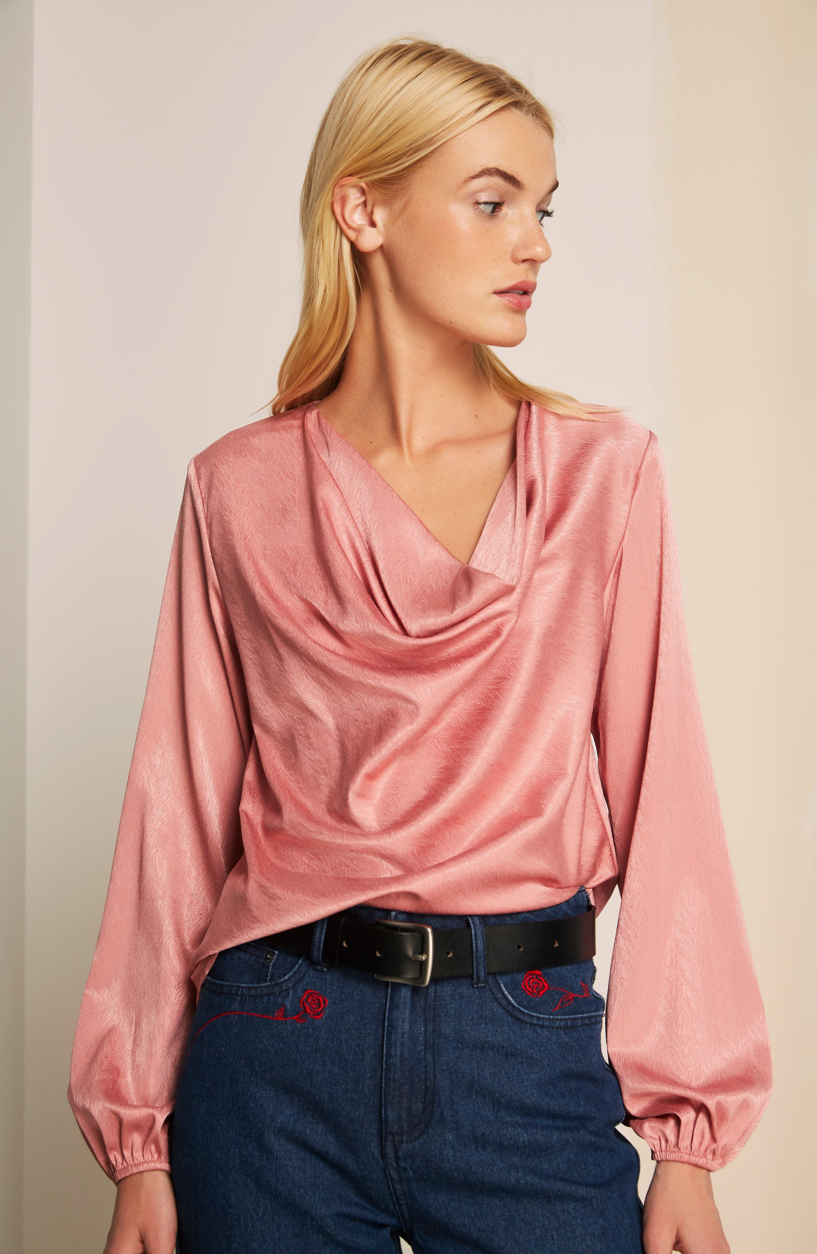 THE FIFTH LABEL, Lotti Cowl Neck Top, Alternate thumbnail 7, color, 600
