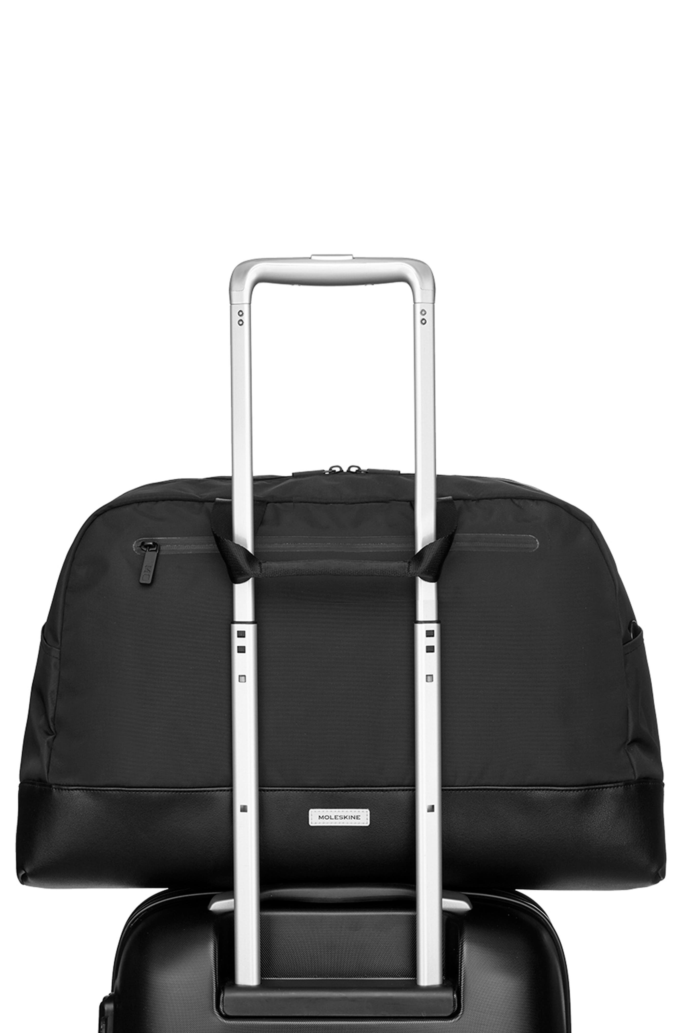 MOLESKINE, Moleskin Metro Duffle Bag, Alternate thumbnail 4, color, BLACK