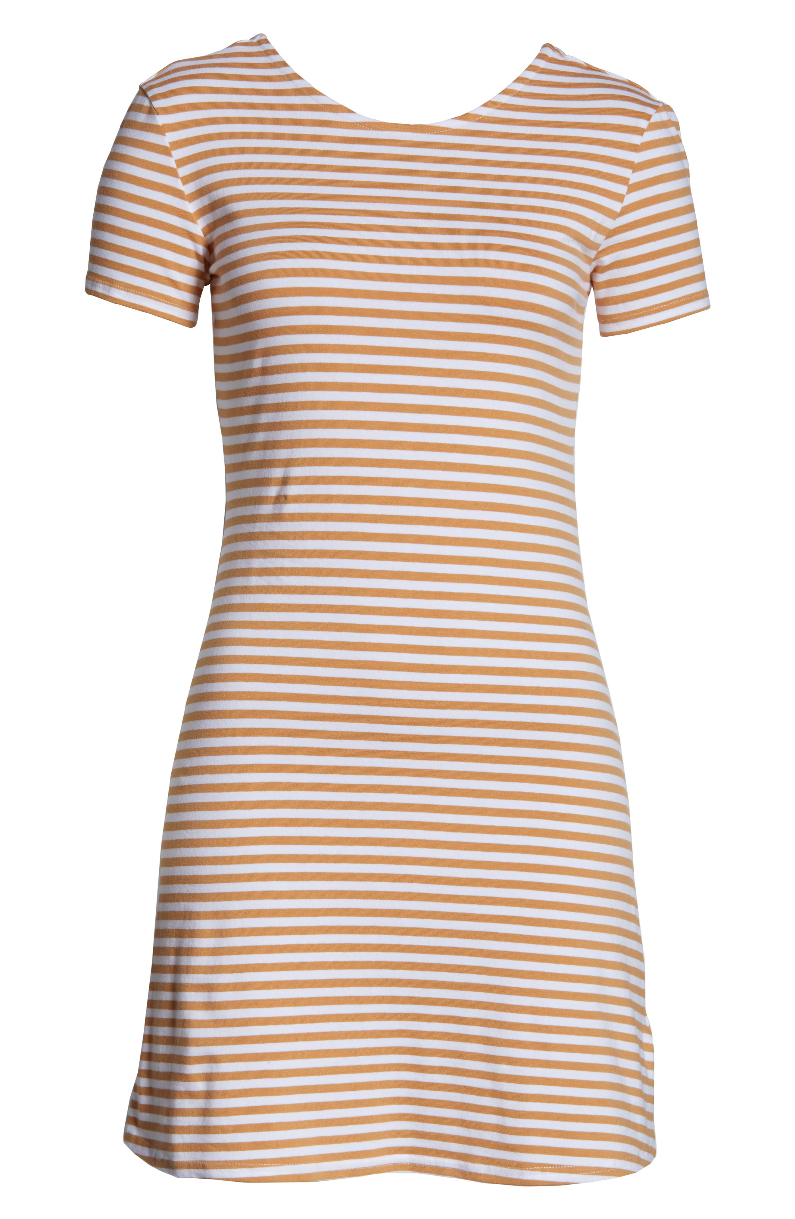 VOLCOM, Looking Out Stripe T-Shirt Dress, Alternate thumbnail 5, color, 250
