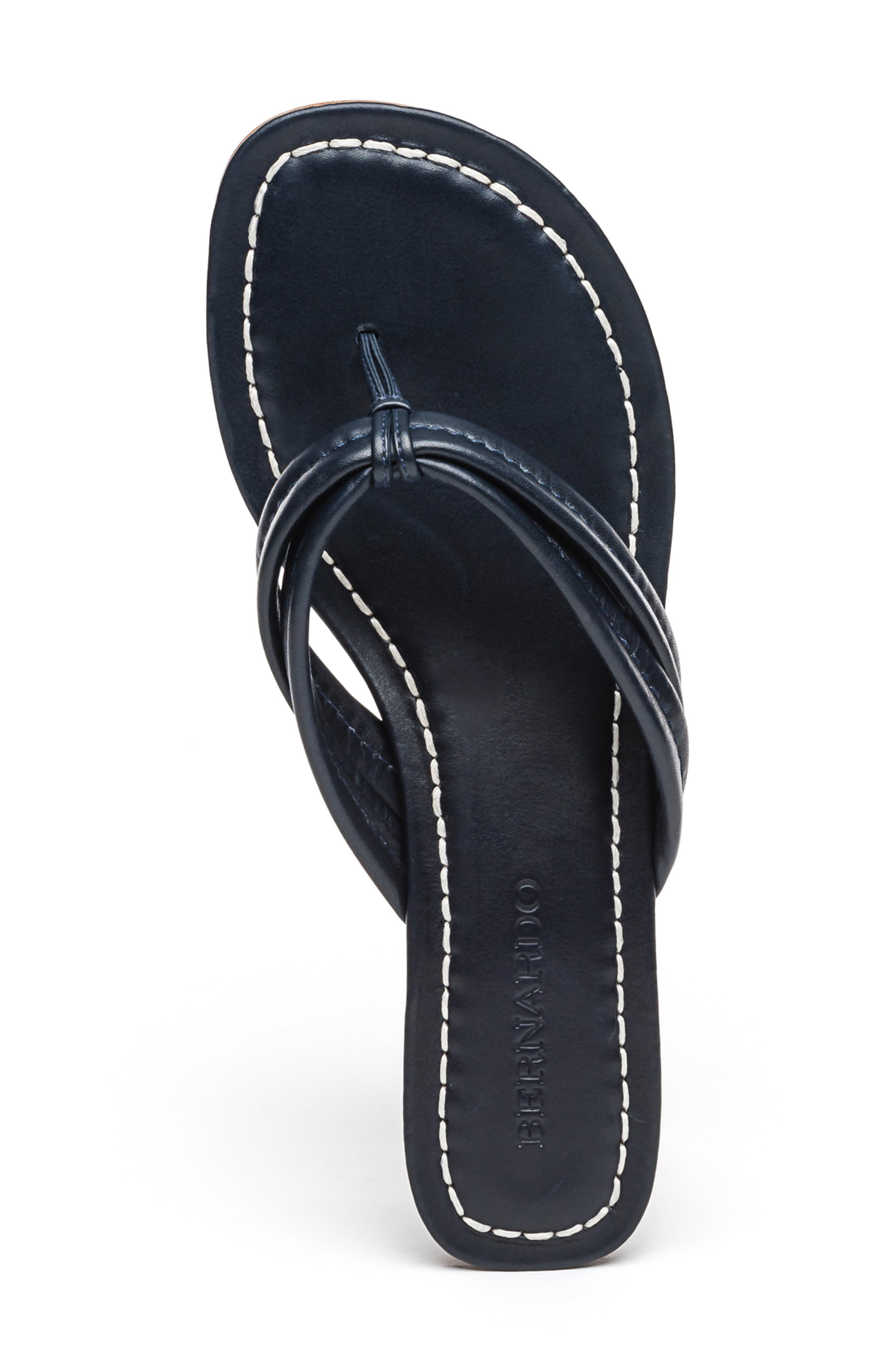 BERNARDO, Miami Sandal, Alternate thumbnail 5, color, BLACK ANTIQUE LEATHER