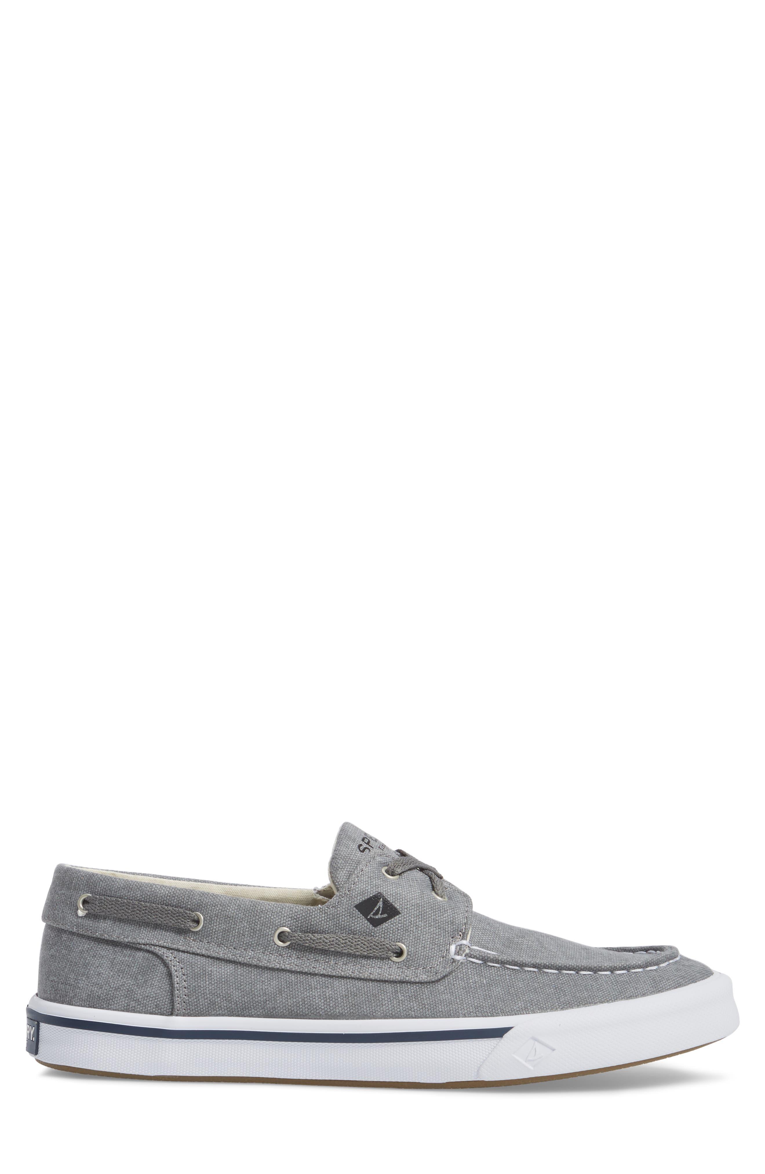 SPERRY, Striper 2 Boat Shoe, Alternate thumbnail 3, color, GREY CANVAS