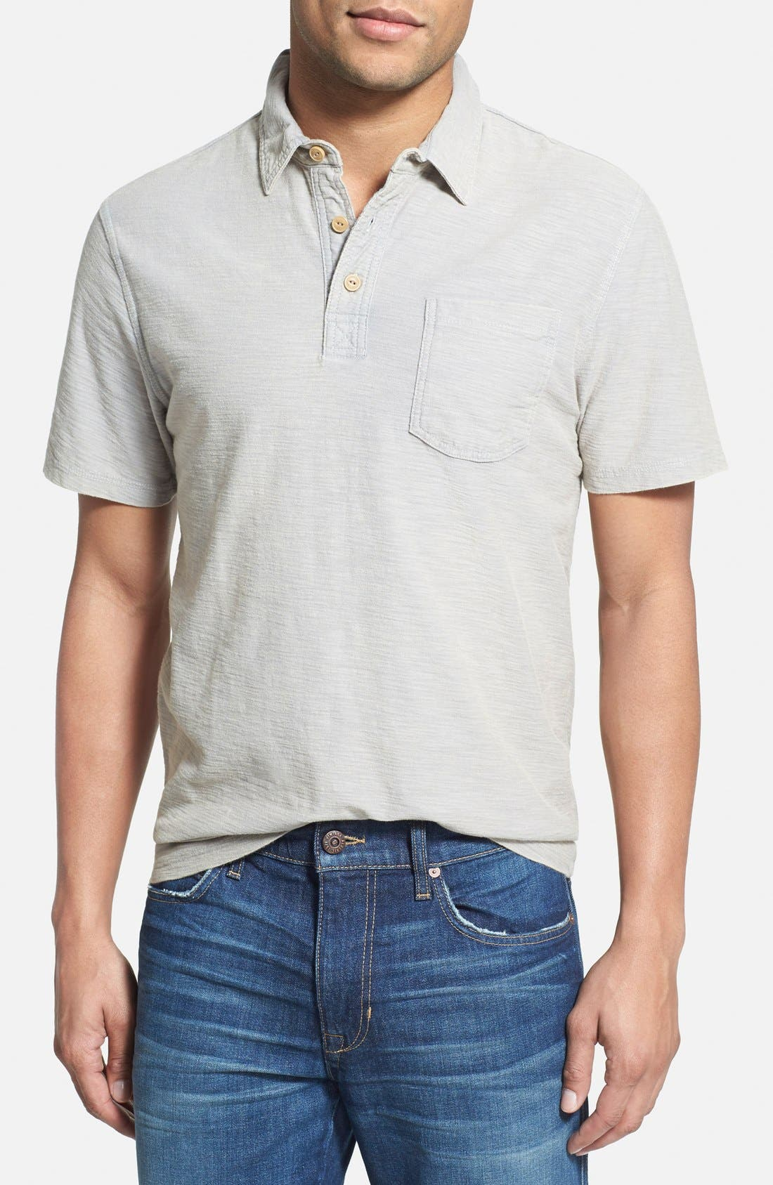 WALLIN & BROS., 'Workwear' Short Sleeve Polo, Main thumbnail 1, color, 030