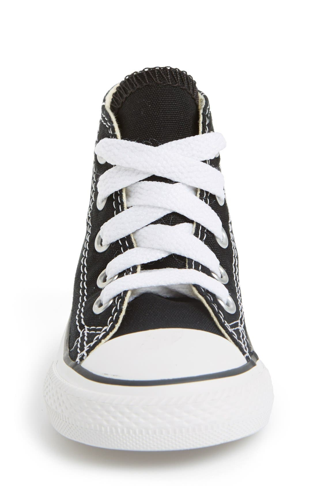 CONVERSE, All Star<sup>®</sup> High Top Sneaker, Alternate thumbnail 3, color, BLACK