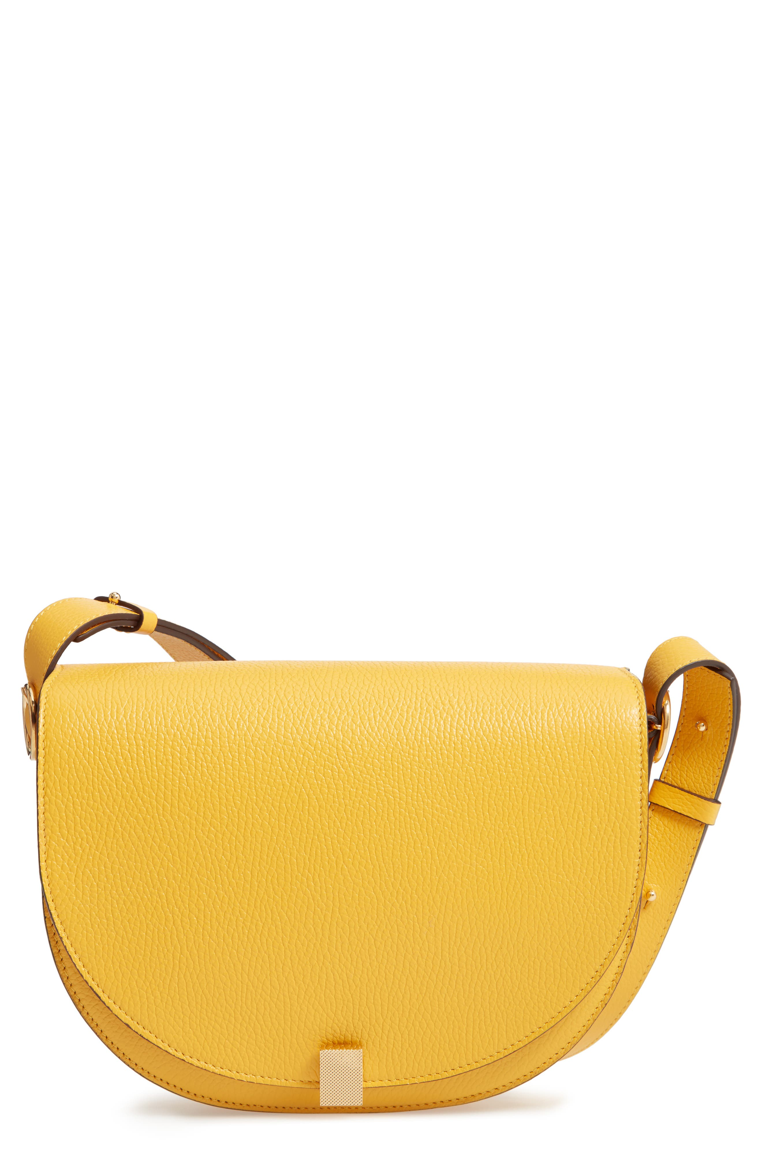 VICTORIA BECKHAM, Half Moon Box Shoulder Bag, Main thumbnail 1, color, YELLOW