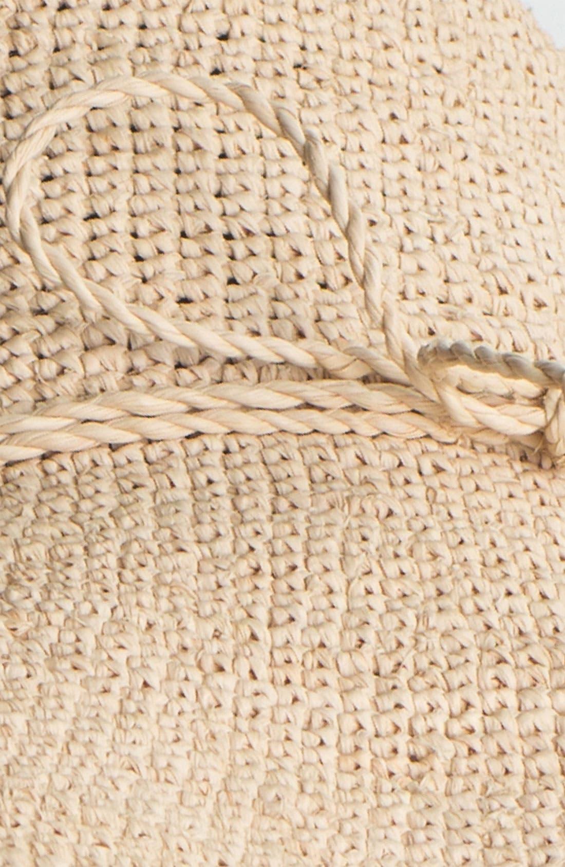 HELEN KAMINSKI, 'Provence 10' Packable Raffia Hat, Alternate thumbnail 4, color, NATURAL