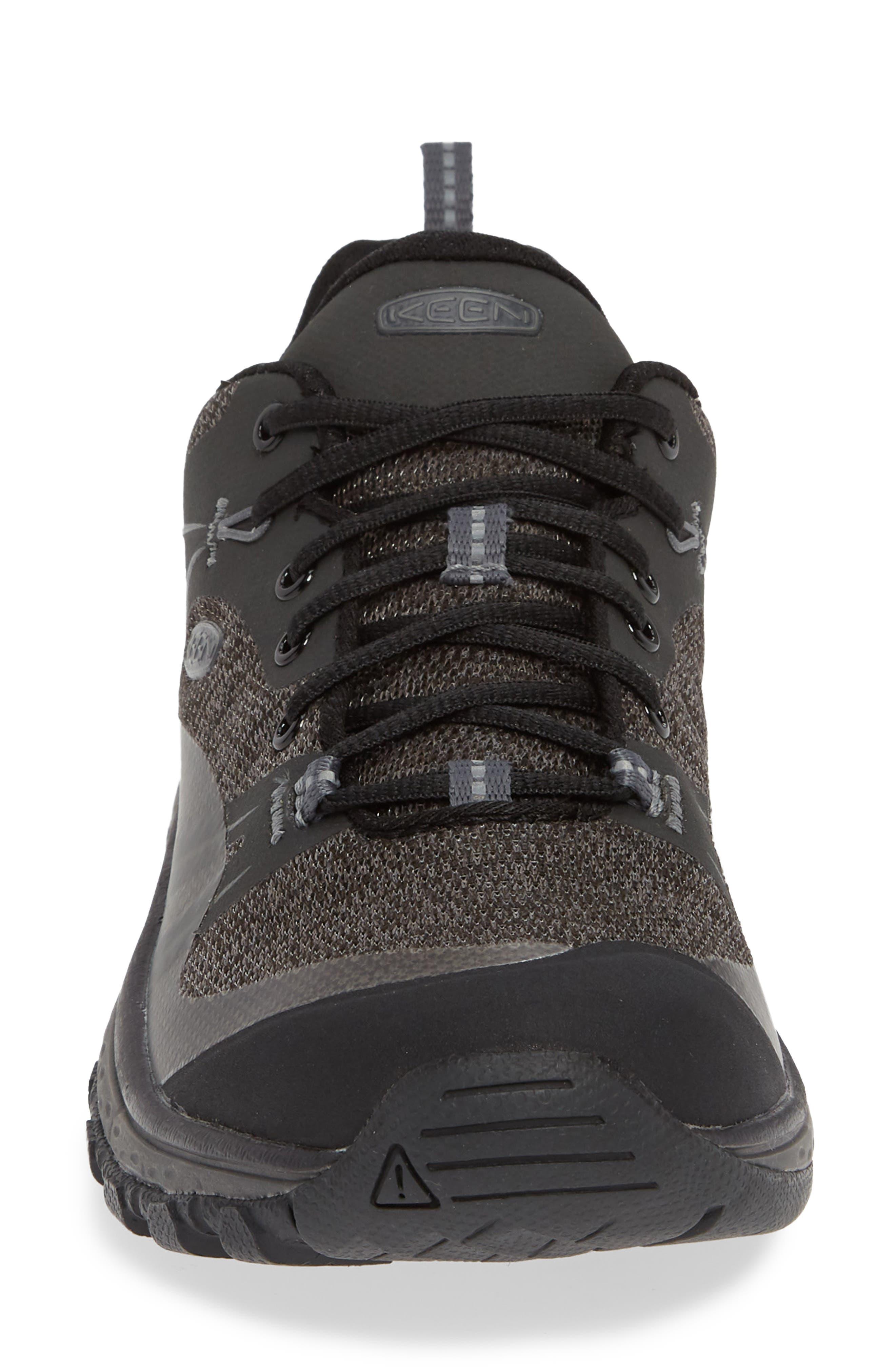 KEEN, Terradora Hiking Waterproof Sneaker, Alternate thumbnail 4, color, RAVEN/ GARGOYLE