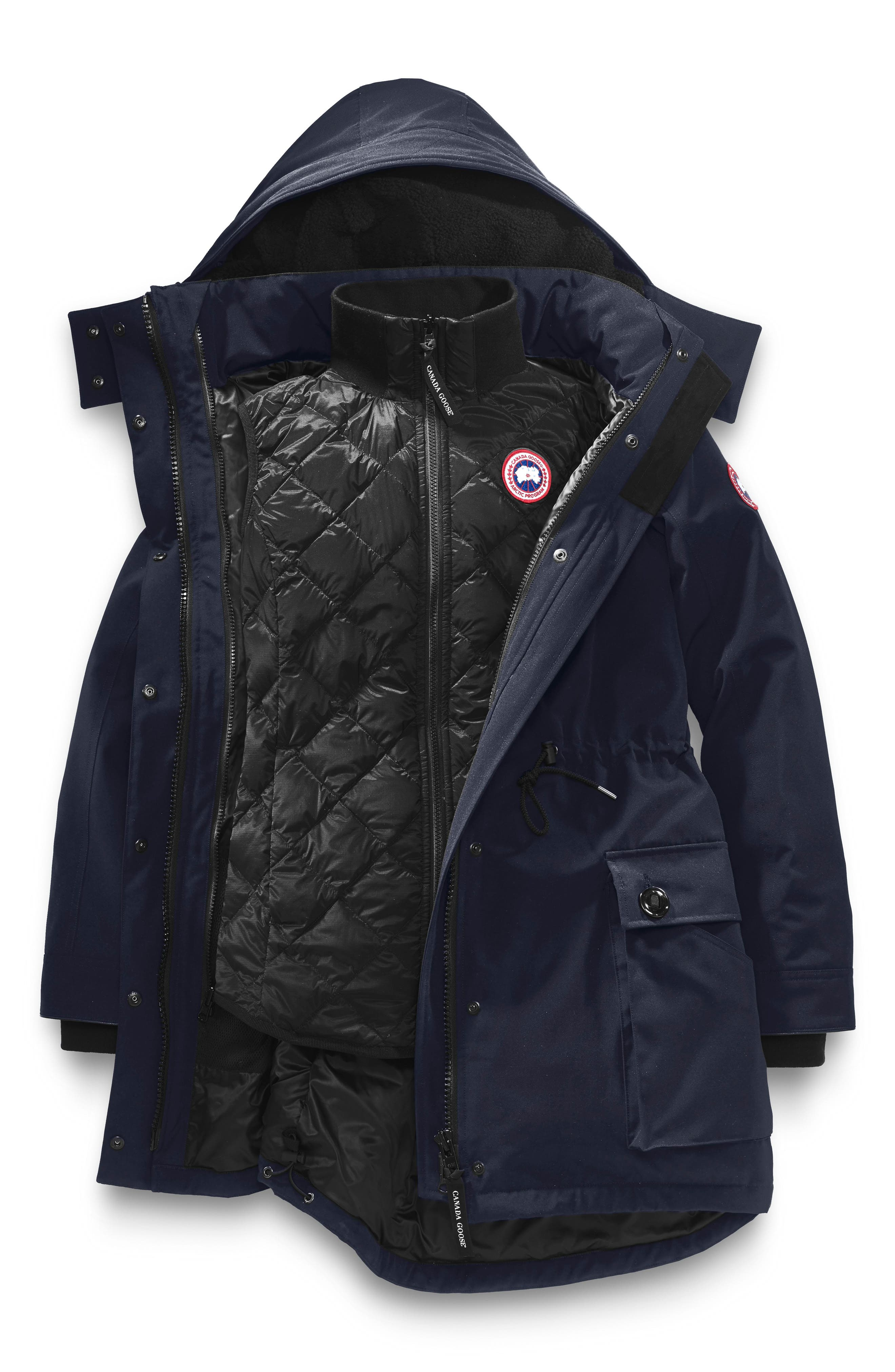 CANADA GOOSE, Perley Waterproof 675-Fill-Power Down 3-in-1 Parka, Alternate thumbnail 5, color, ADMIRAL BLUE