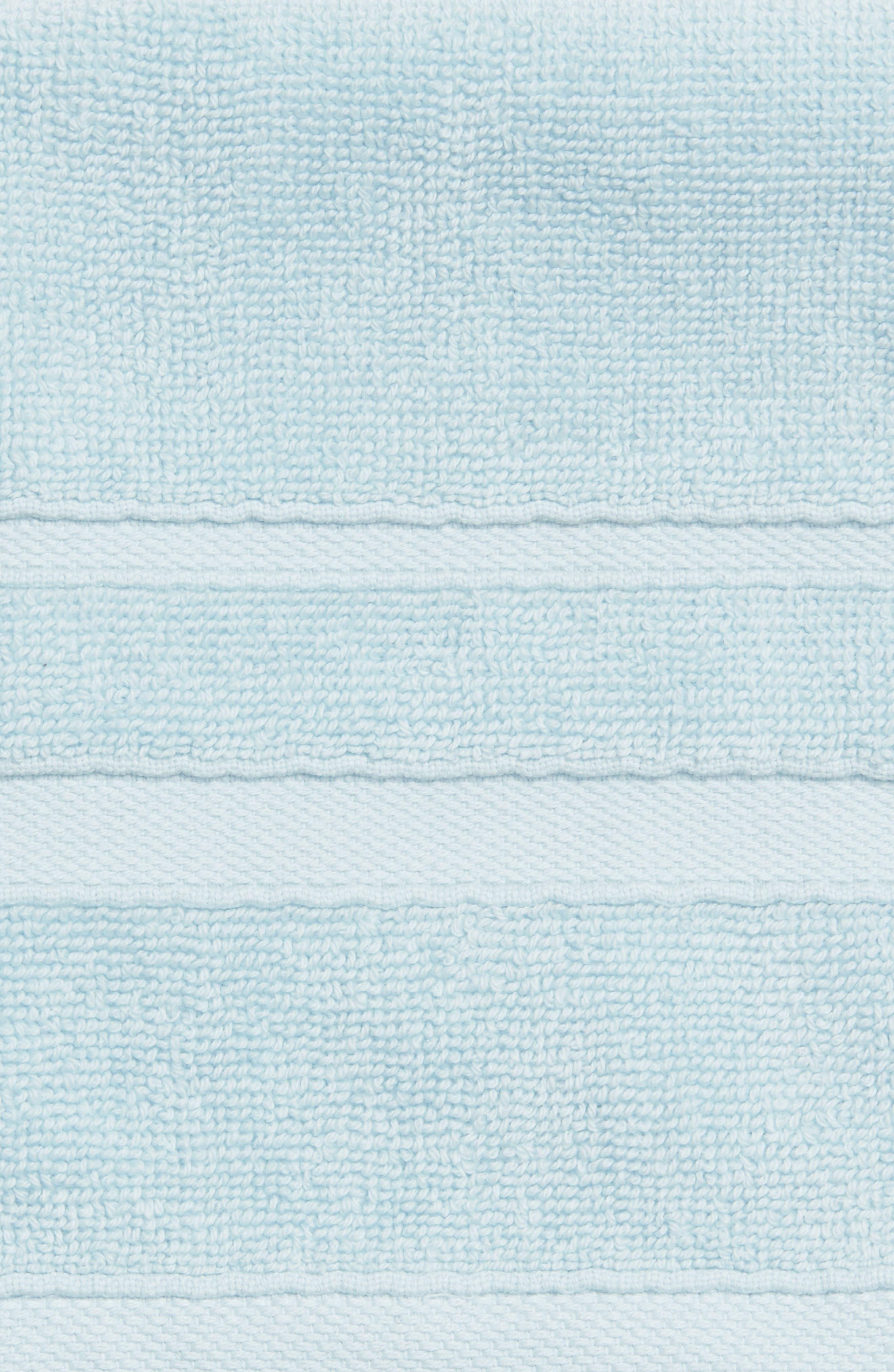WATERWORKS STUDIO, 'Perennial' Combed Turkish Cotton Washcloth, Alternate thumbnail 3, color, CHRYSTAL BLUE