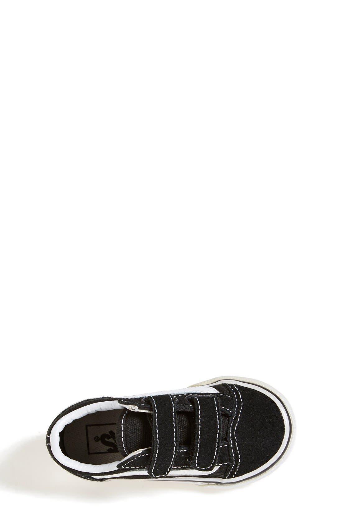VANS, 'Old Skool V' Sneaker, Alternate thumbnail 7, color, BLACK/ TRUE WHITE