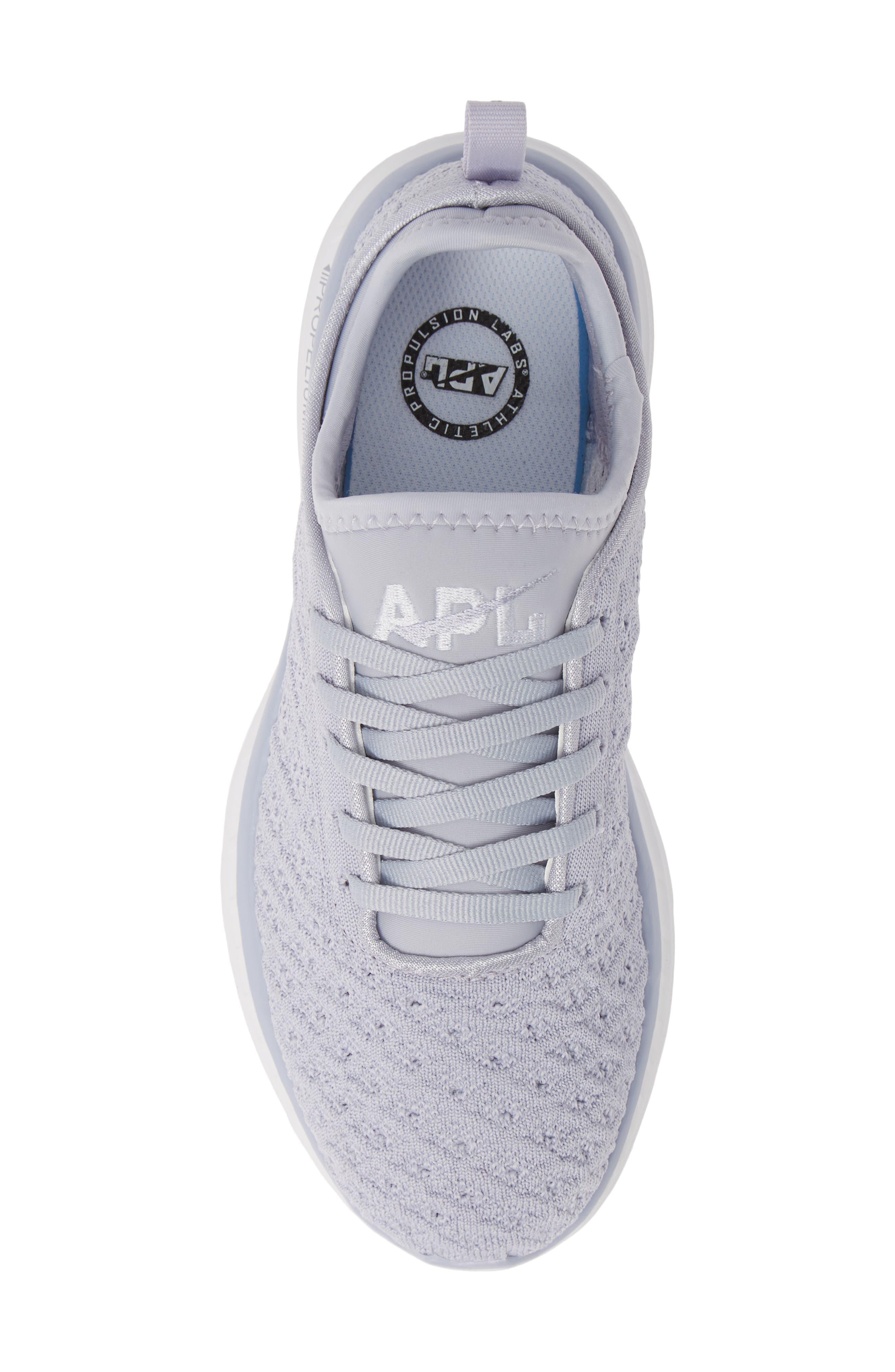 APL, TechLoom Phantom Running Shoe, Alternate thumbnail 5, color, FADED LAVENDER/ WHITE