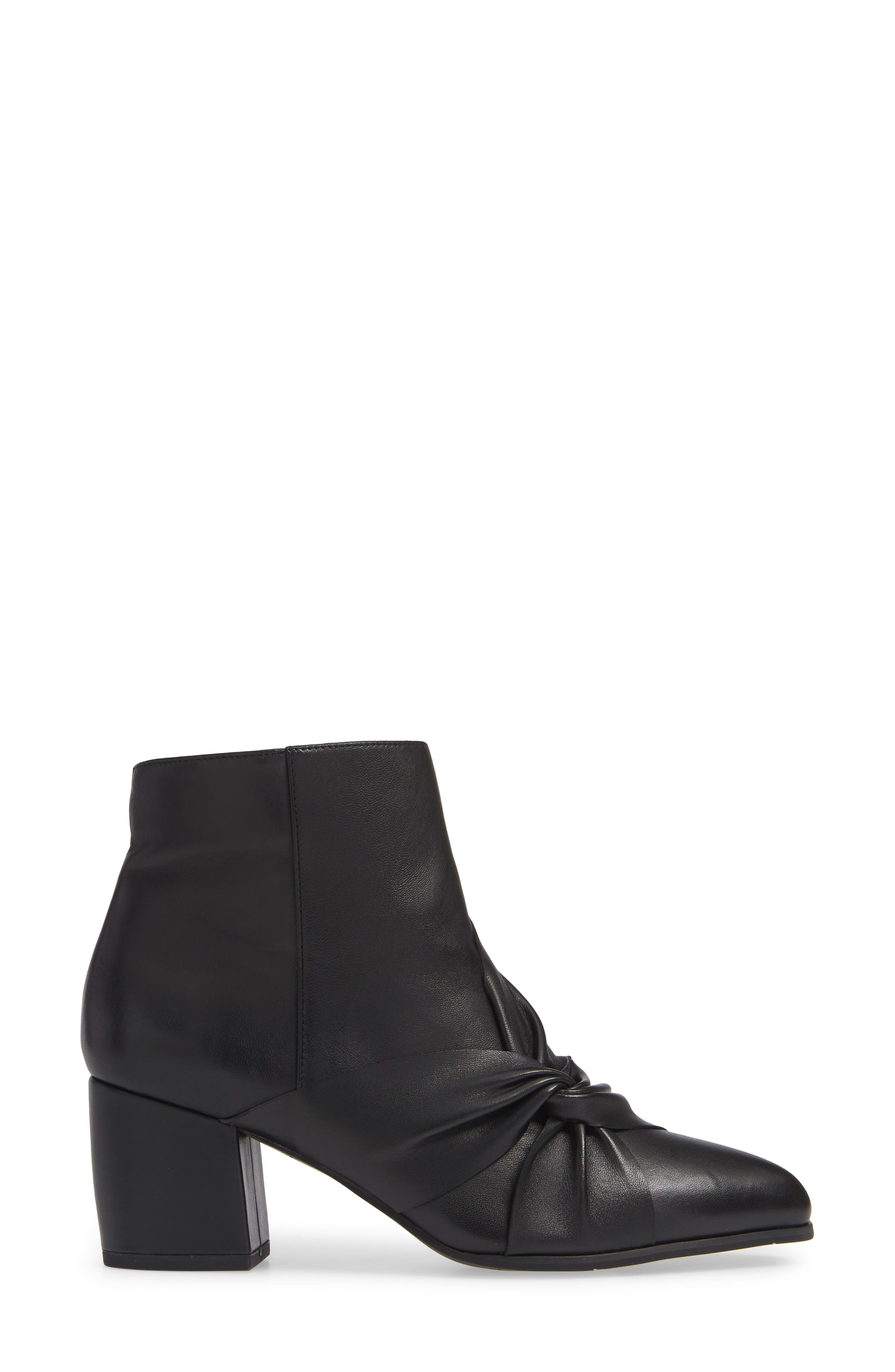 NIC+ZOE, Amorie II Bootie, Alternate thumbnail 3, color, BLACK LEATHER