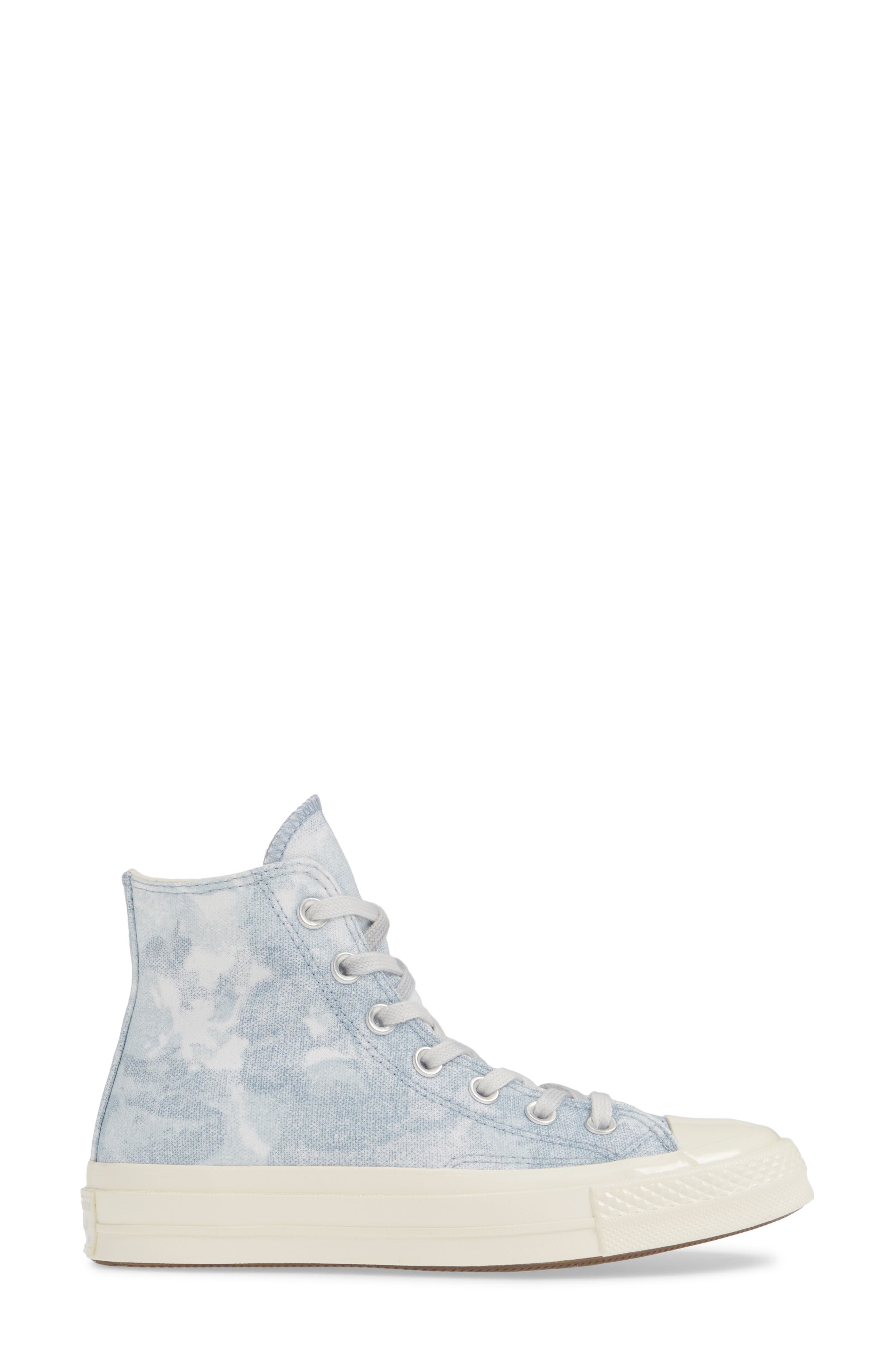 CONVERSE, Chuck Taylor<sup>®</sup> All Star<sup>®</sup> 70 High Top Sneaker, Alternate thumbnail 3, color, INDIGO FOG/ PLATINUM/ EGRET