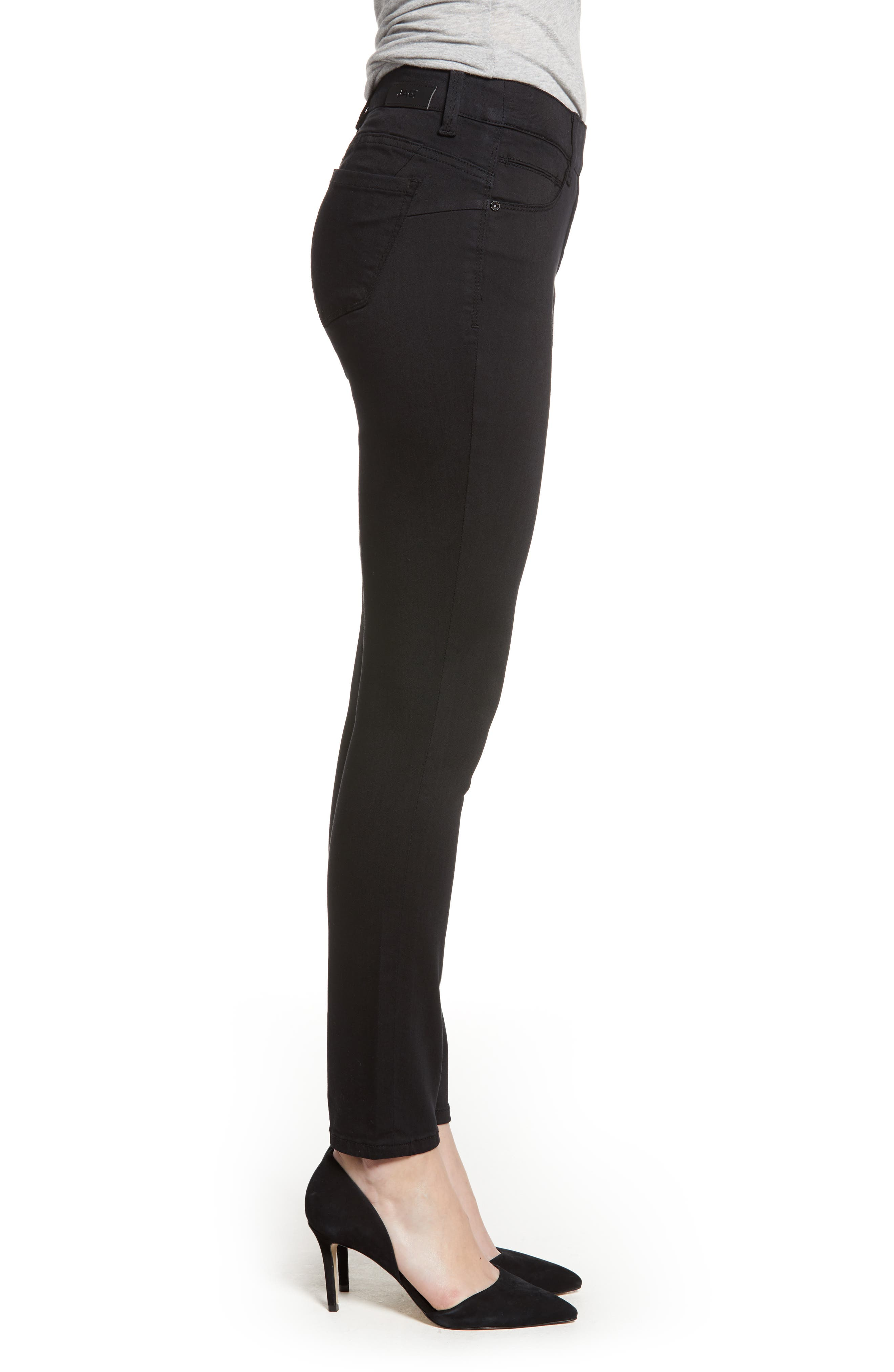 JAG JEANS, Bryn Pull-On Jeans, Alternate thumbnail 4, color, BLACK