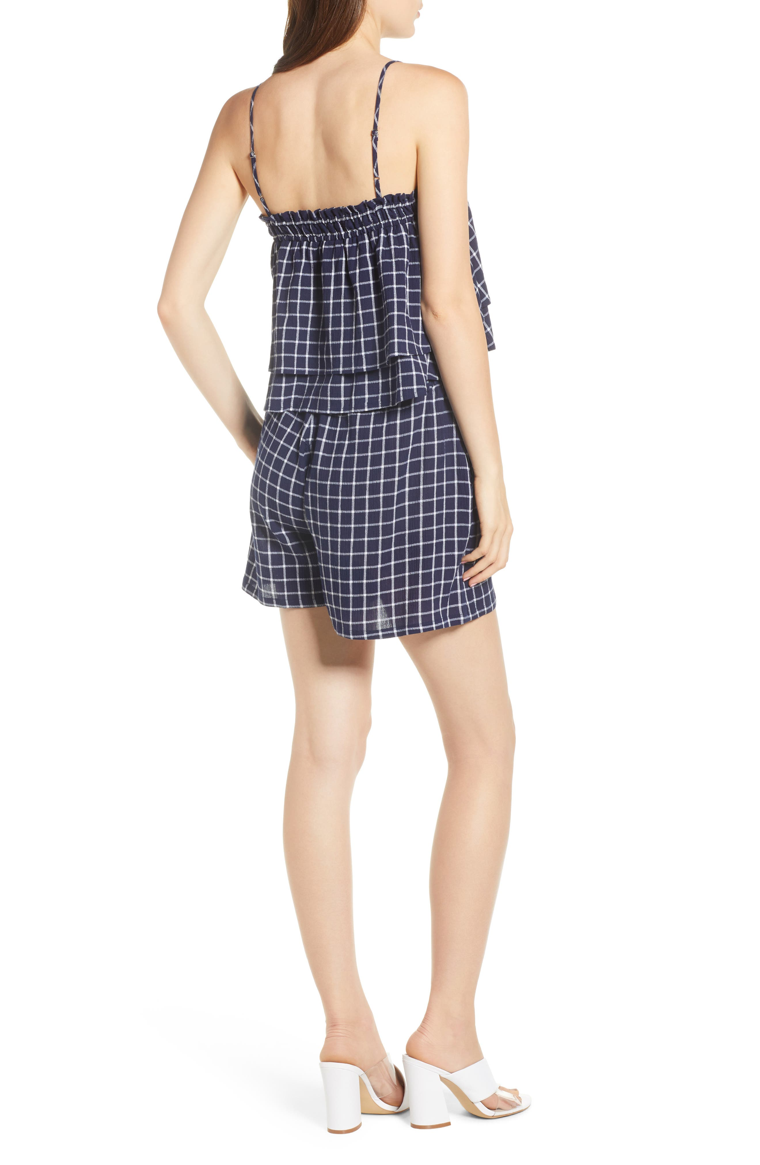 BP., Plaid Tiered Tank, Alternate thumbnail 2, color, 401