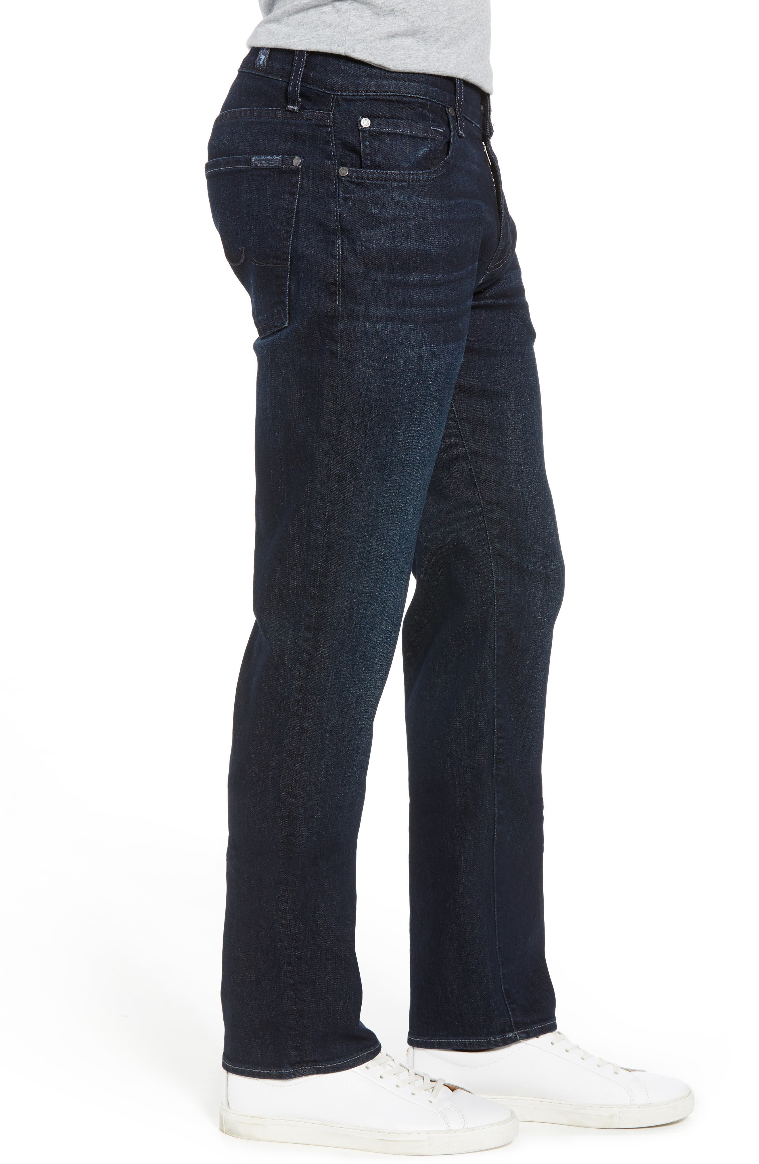 7 FOR ALL MANKIND<SUP>®</SUP>, Airweft Standard Straight Leg Jeans, Alternate thumbnail 3, color, 401