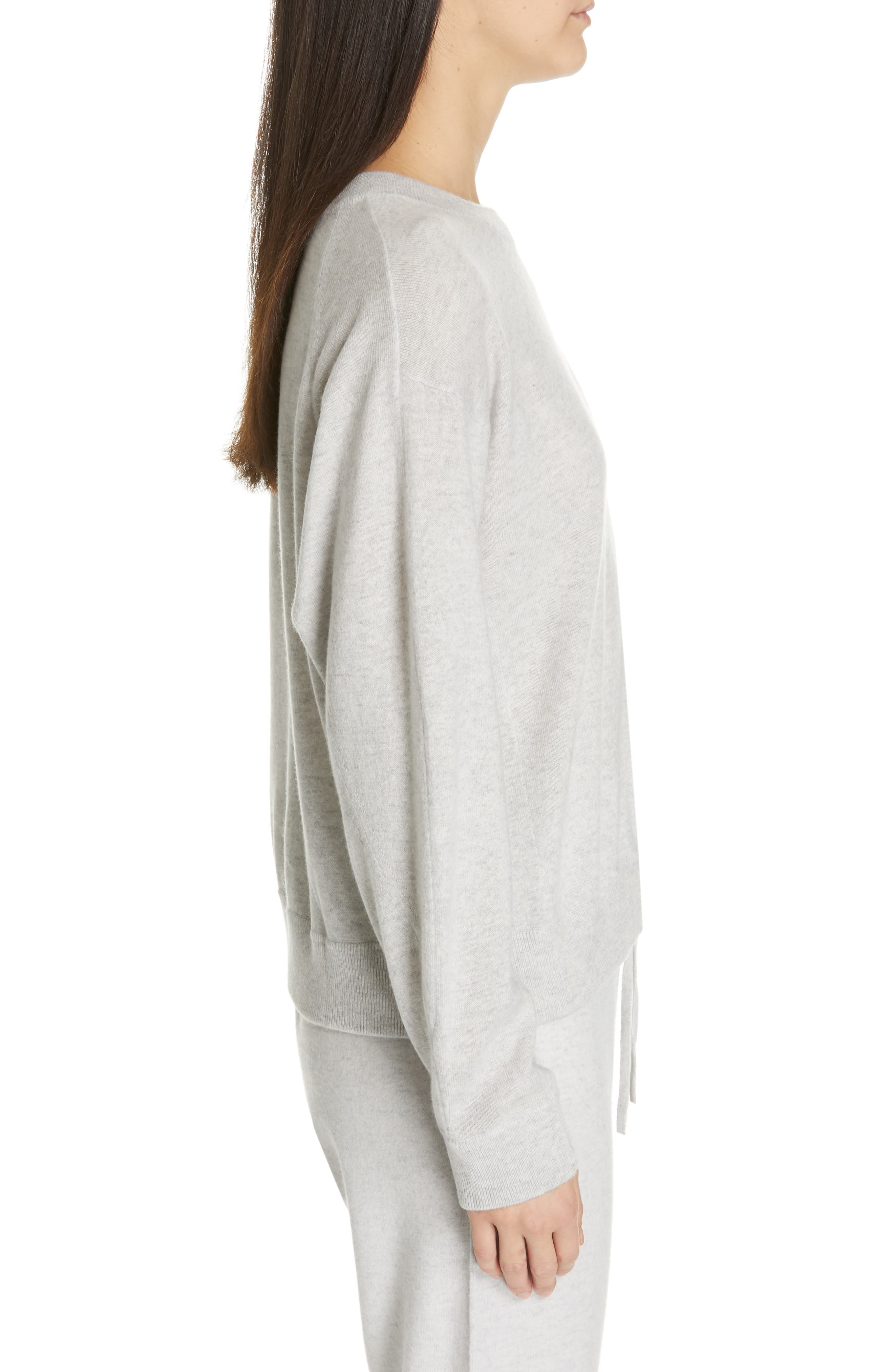 VINCE, Boxy Cashmere Sweater, Alternate thumbnail 3, color, LIGHT HEATHER GREY