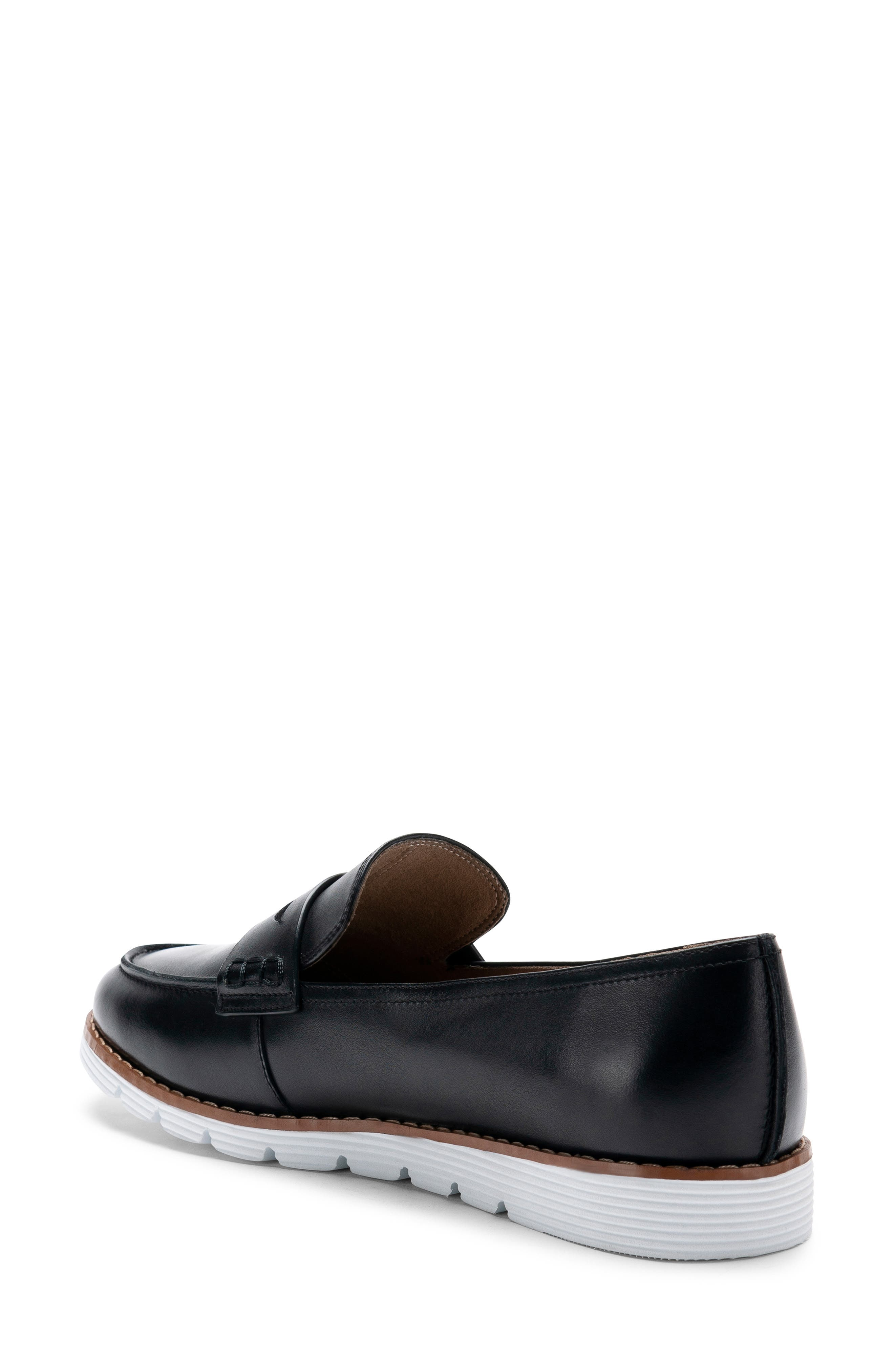 BLONDO, Waterproof Penny Loafer, Alternate thumbnail 2, color, BLACK LEATHER