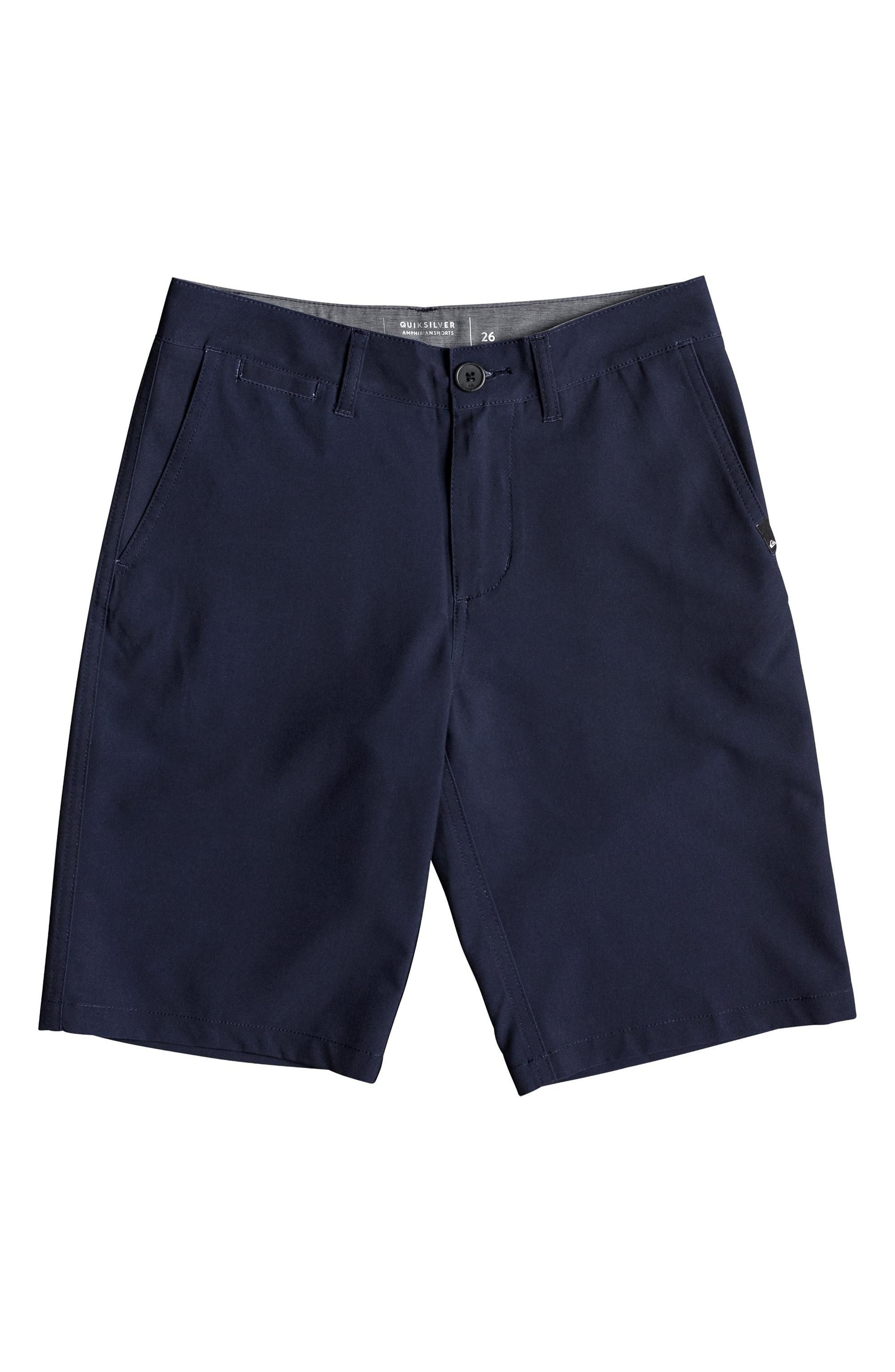 QUIKSILVER Union Amphibian Hybrid Shorts, Main, color, NAVY BLAZER