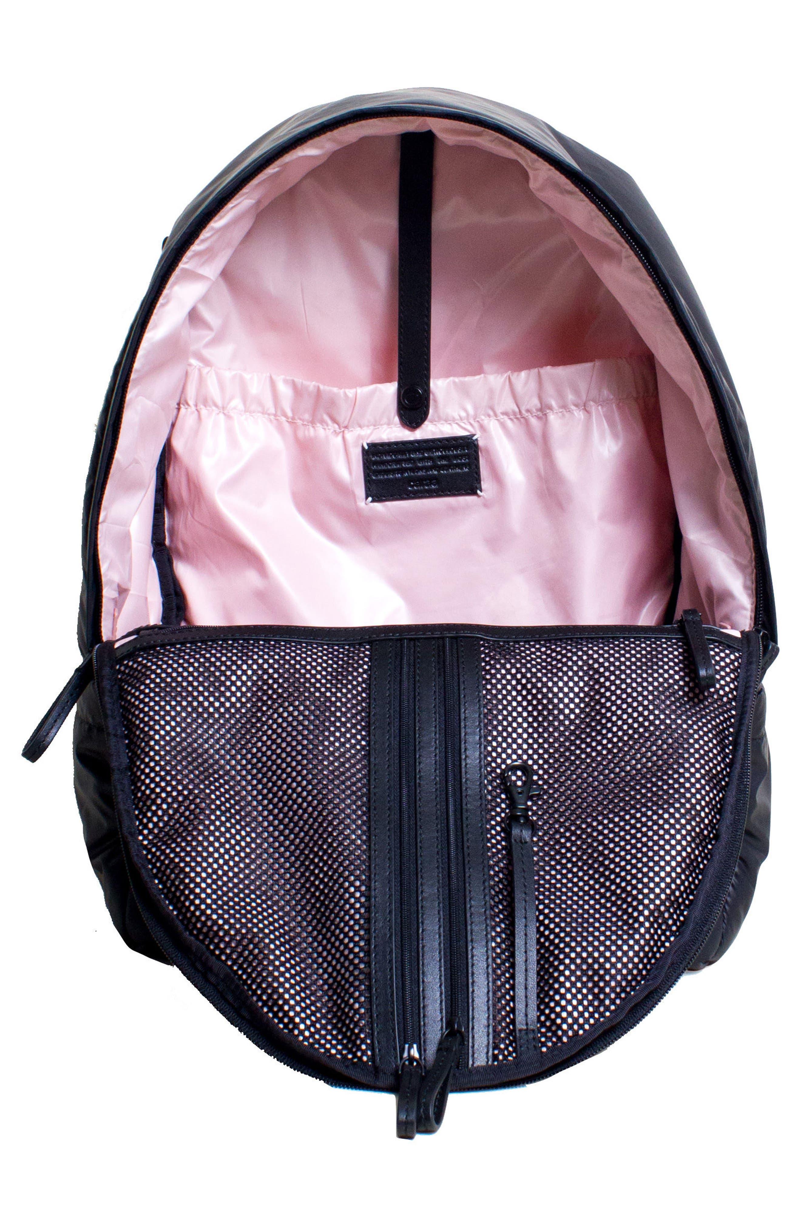 CARAA, Stratus Waterproof Backpack, Alternate thumbnail 5, color, BLACK