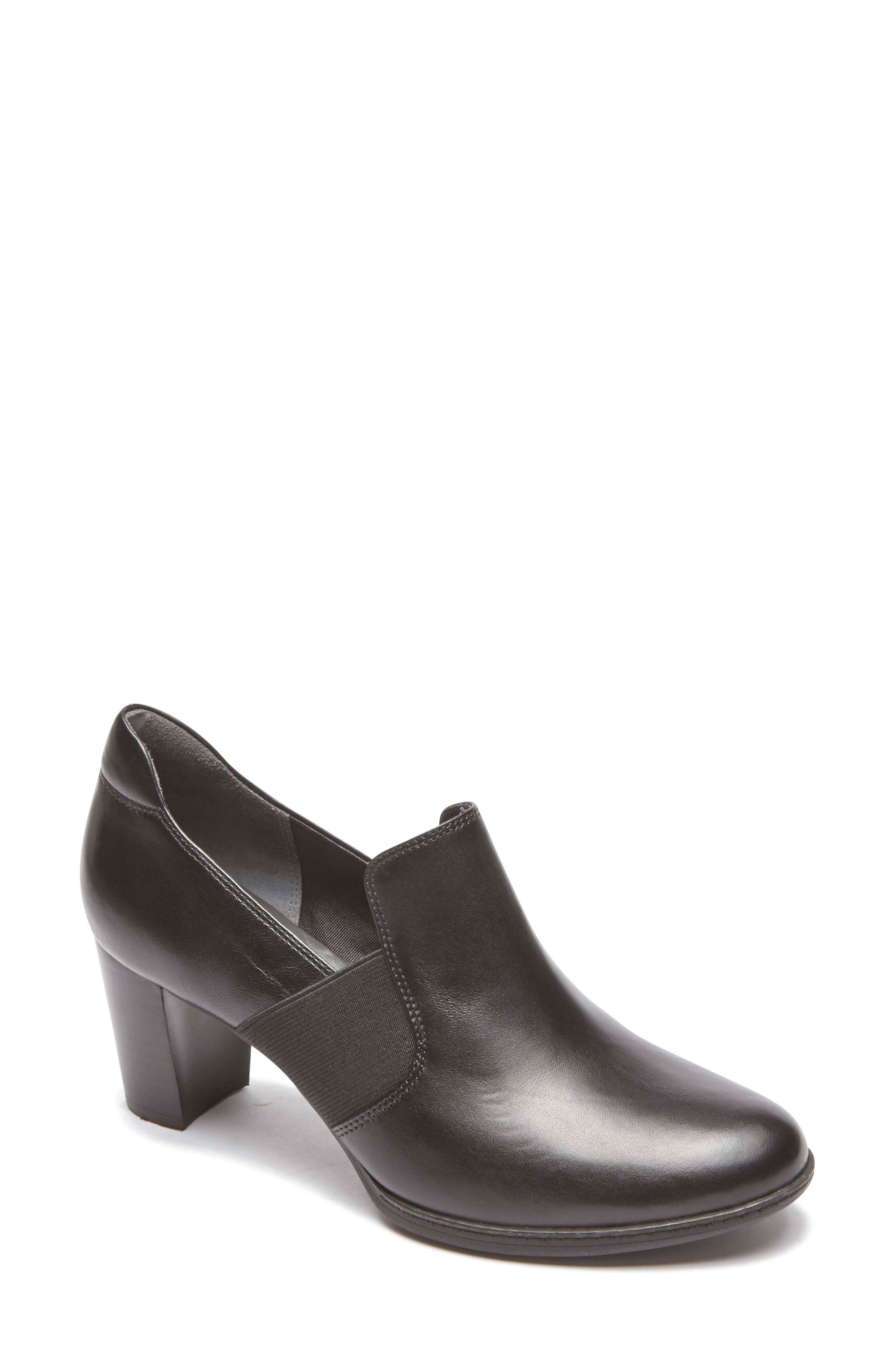 ROCKPORT, Chaya Loafer Pump, Main thumbnail 1, color, BLACK LEATHER