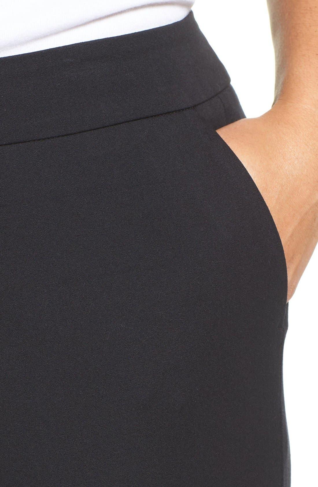 SEJOUR, Straight Leg Ankle Pants, Alternate thumbnail 11, color, BLACK
