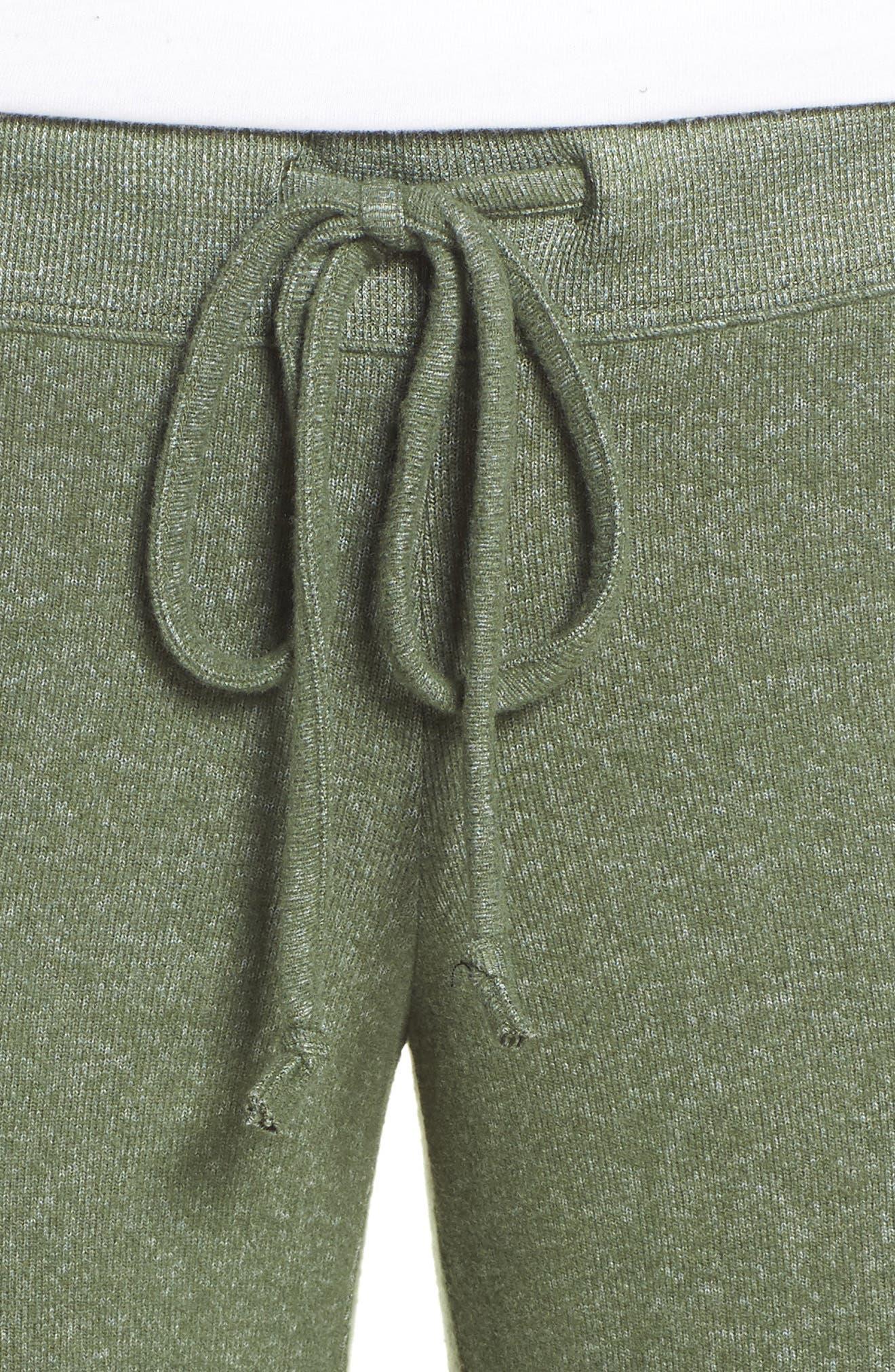 MAKE + MODEL, Best Boyfriend Brushed Hacci Lounge Pants, Alternate thumbnail 4, color, GREEN THYME