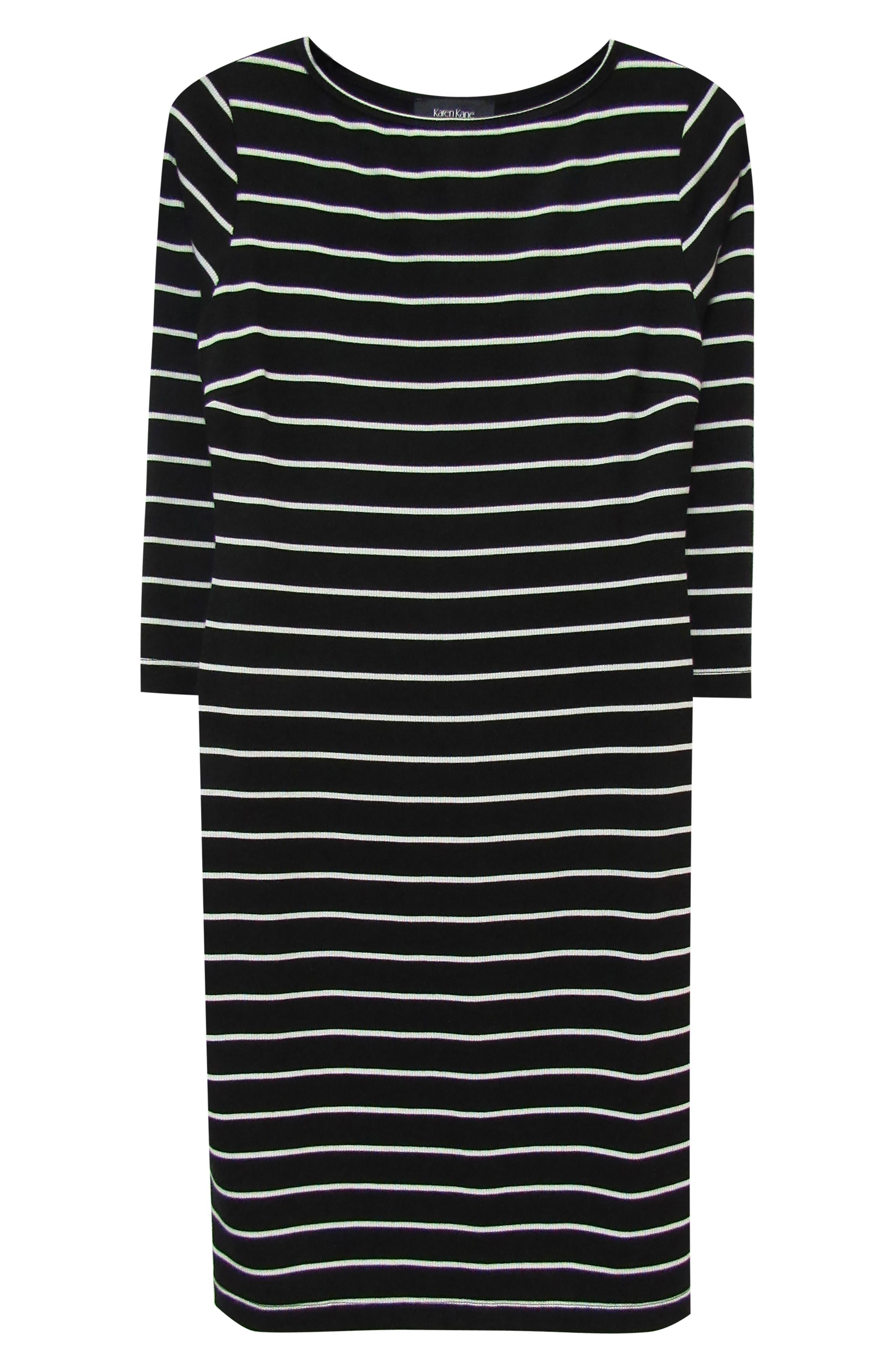 KAREN KANE, Stripe Body-Con Dress, Alternate thumbnail 3, color, STRIPE